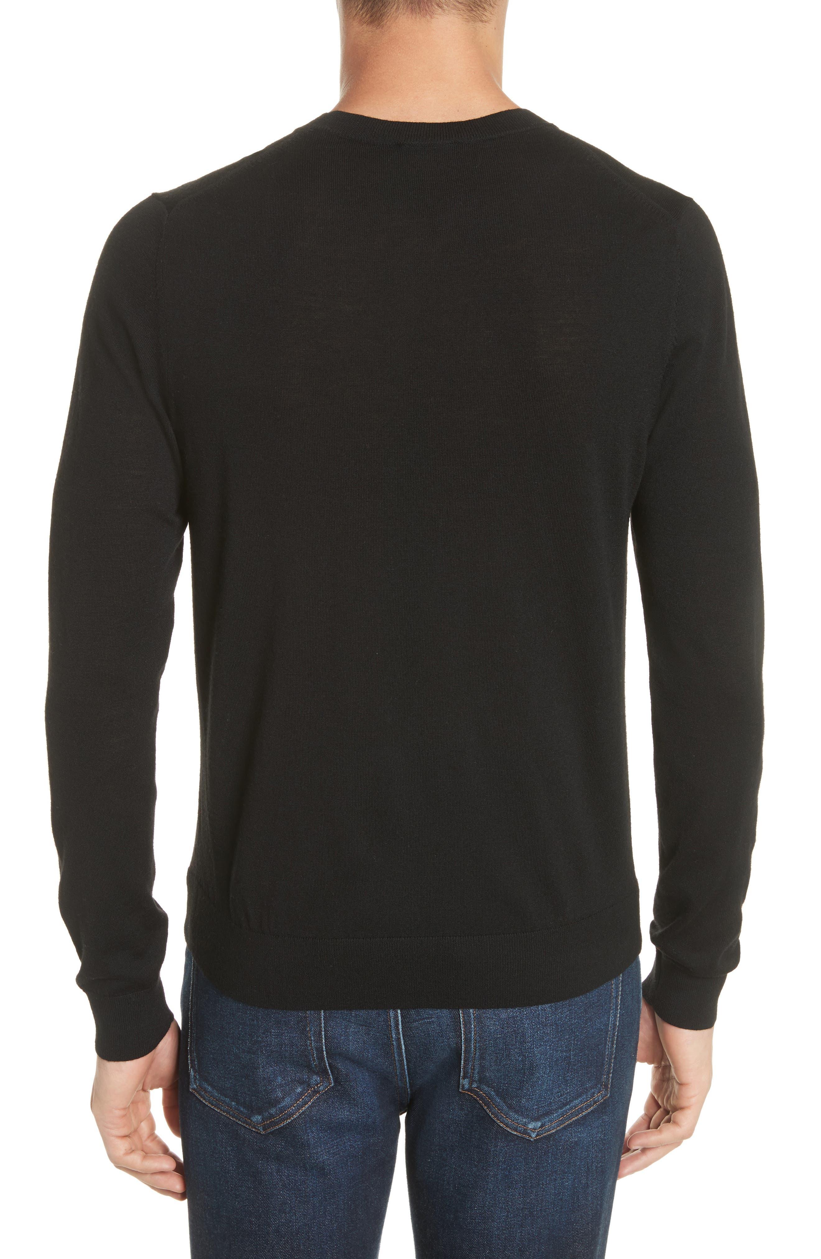 Circle Merino Wool Blend Sweater,                             Alternate thumbnail 2, color,                             001