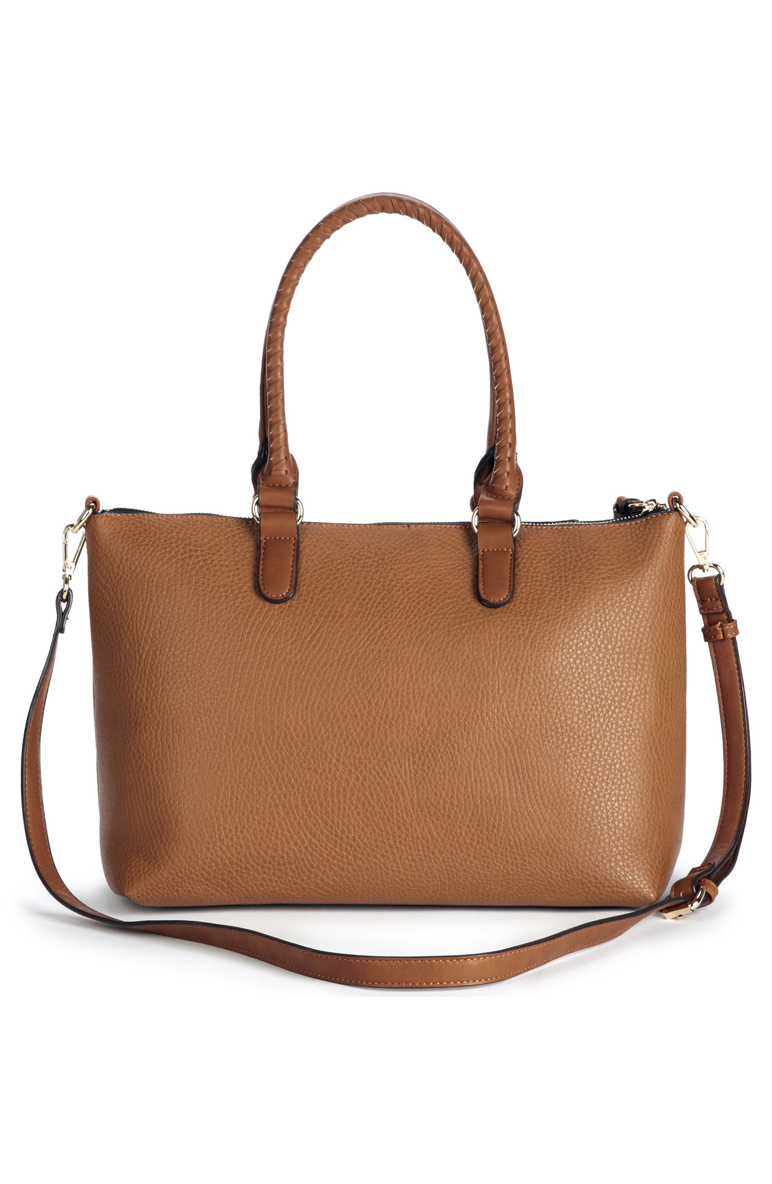 Girard Faux Leather Satchel,                             Alternate thumbnail 8, color,