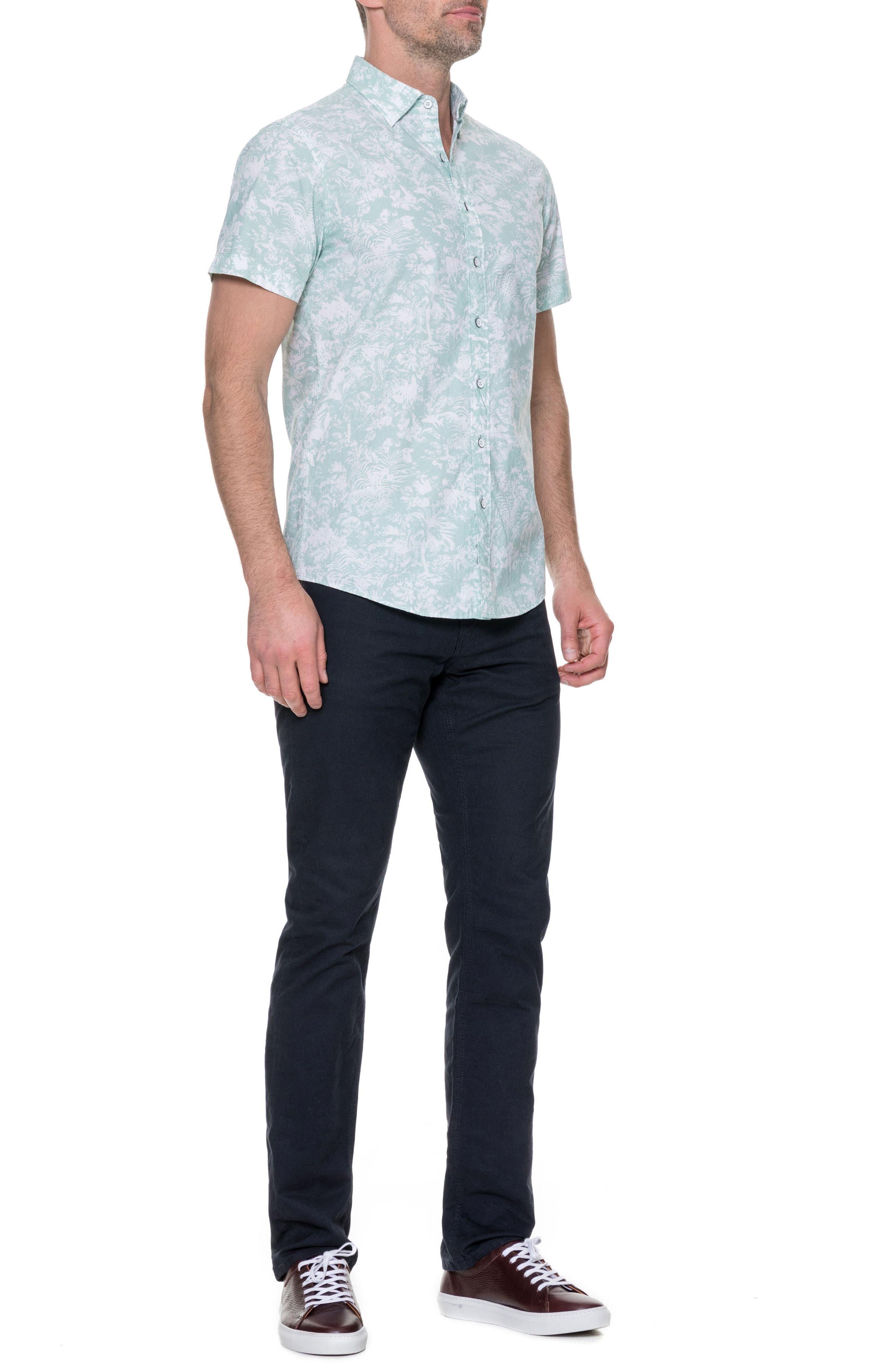 Redcastle Regular Fit Sport Shirt,                             Alternate thumbnail 5, color,                             POWDER BLUE