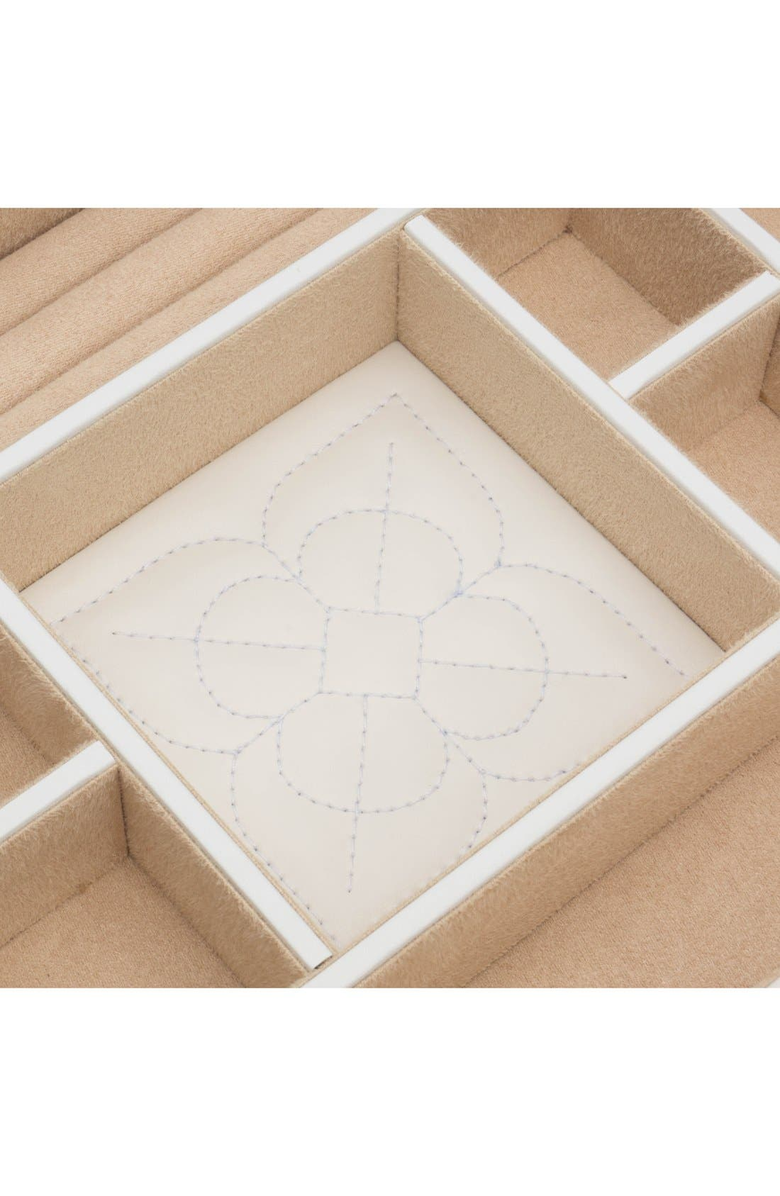 'Marrakesh' Flat Jewelry Box,                             Alternate thumbnail 4, color,                             CREAM