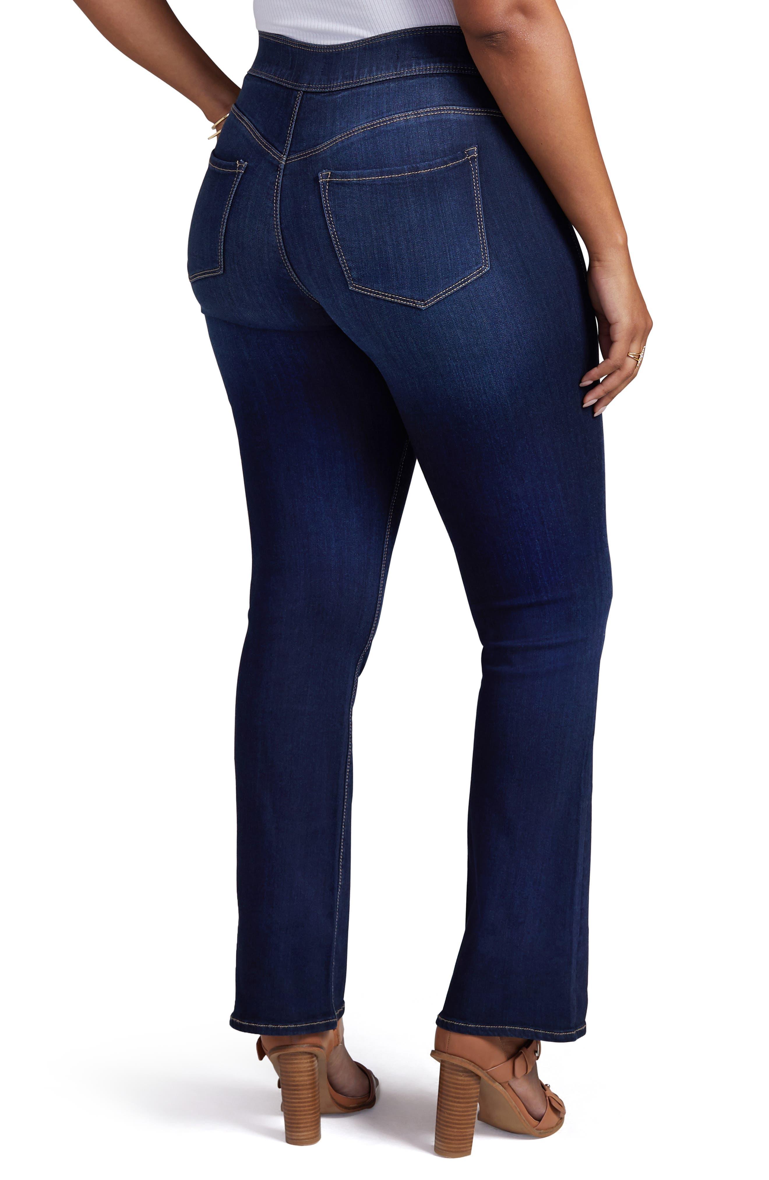 Pull-On Skinny Bootcut Jeans,                             Alternate thumbnail 2, color,                             VENUS