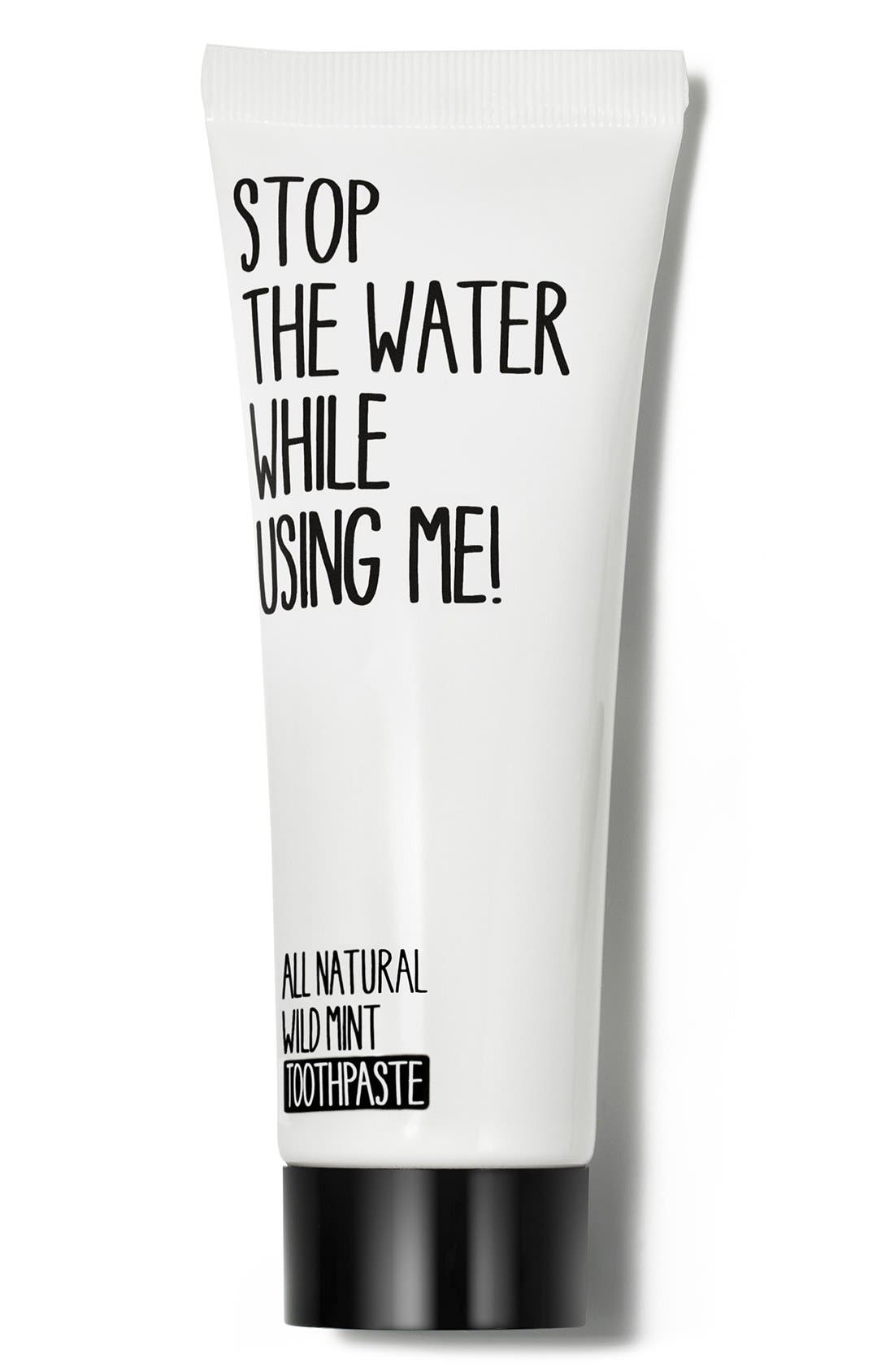 All Natural Wild Mint Toothpaste,                             Main thumbnail 1, color,