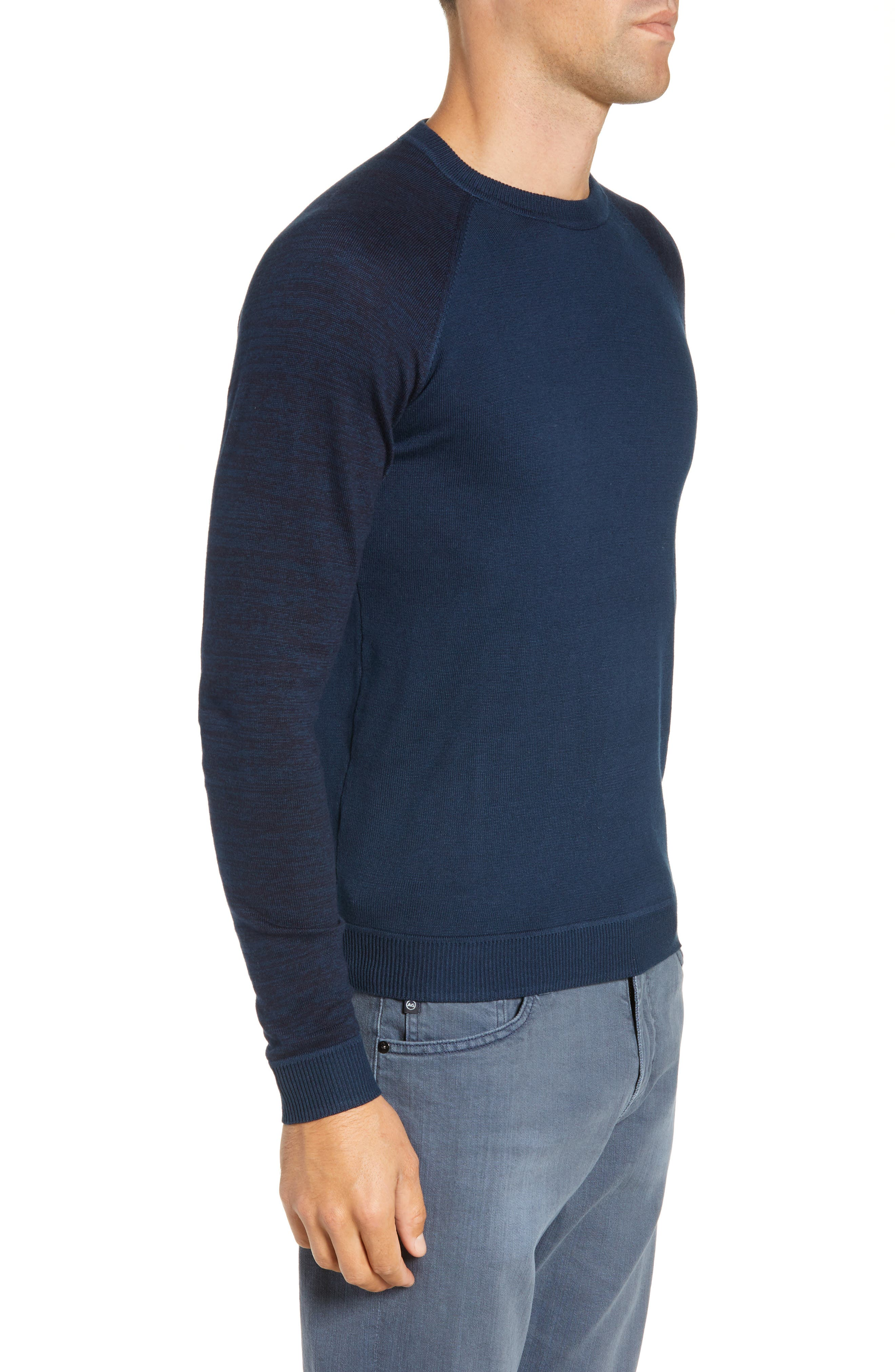 Cornfed Slim Fit Sweater,                             Alternate thumbnail 3, color,                             TEAL-BLUE