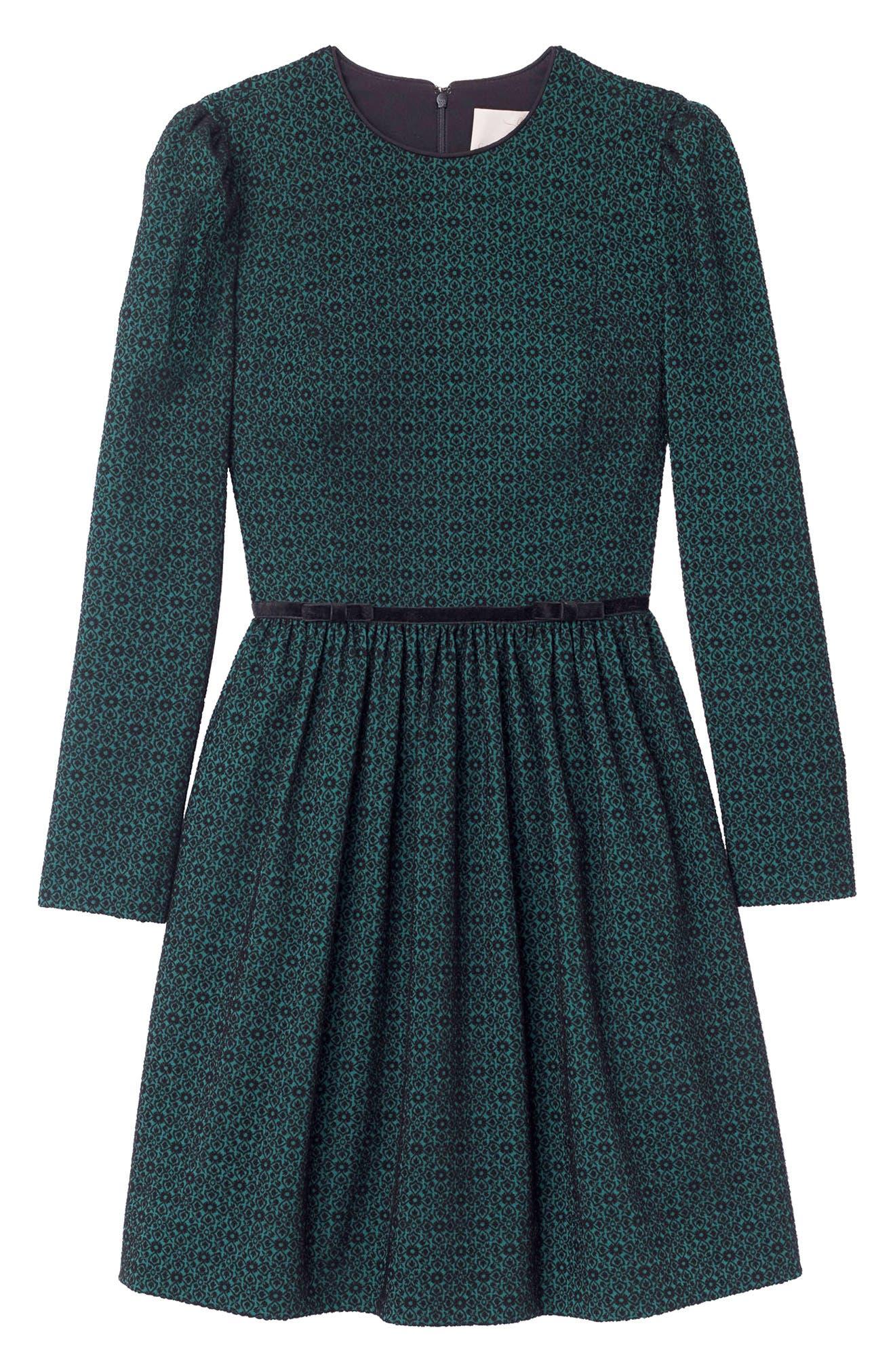 Callie Print Long Sleeve Dress,                             Alternate thumbnail 4, color,                             300