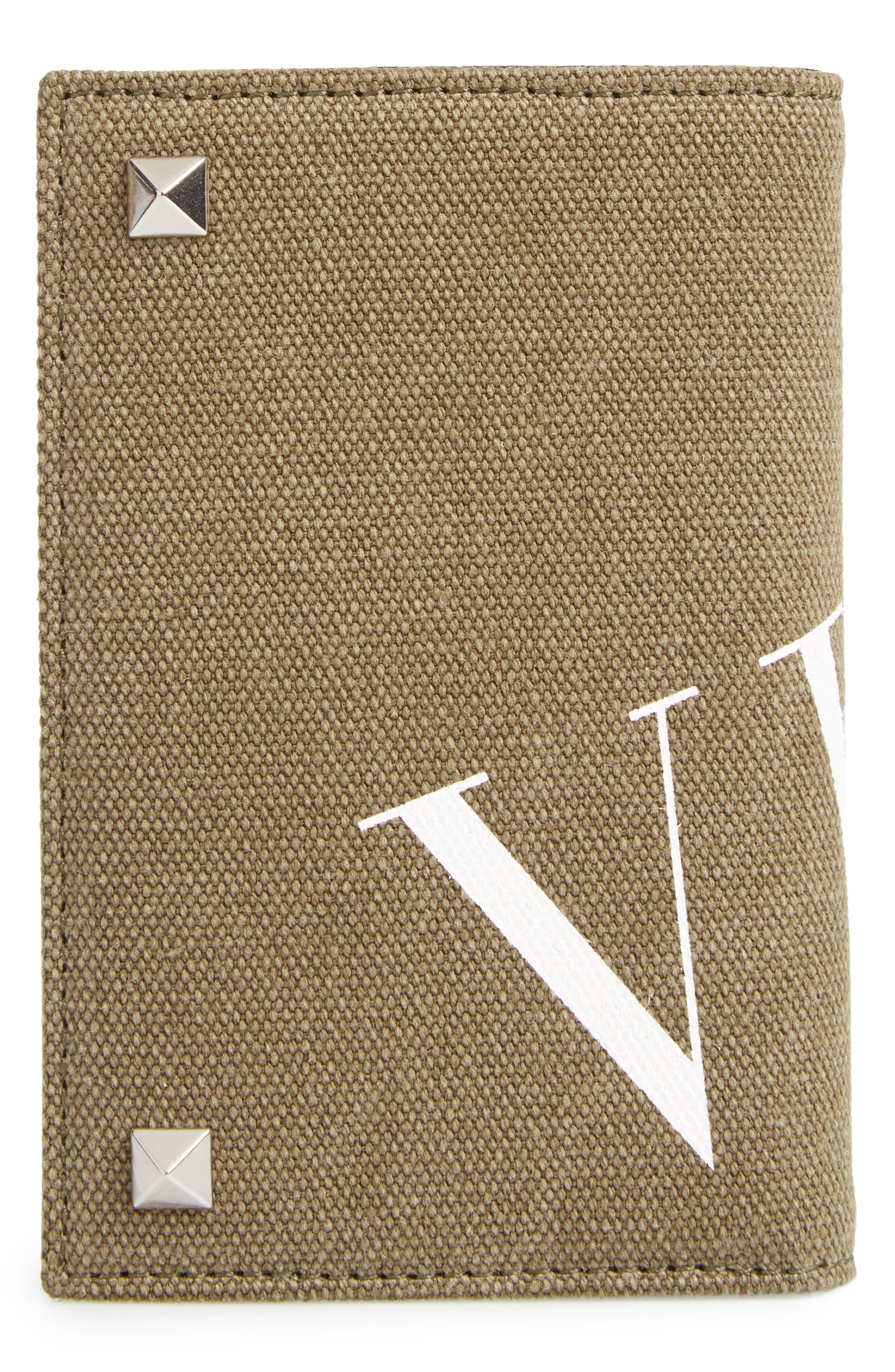 GARAVANI Stud Canvas Wallet,                             Alternate thumbnail 3, color,                             370