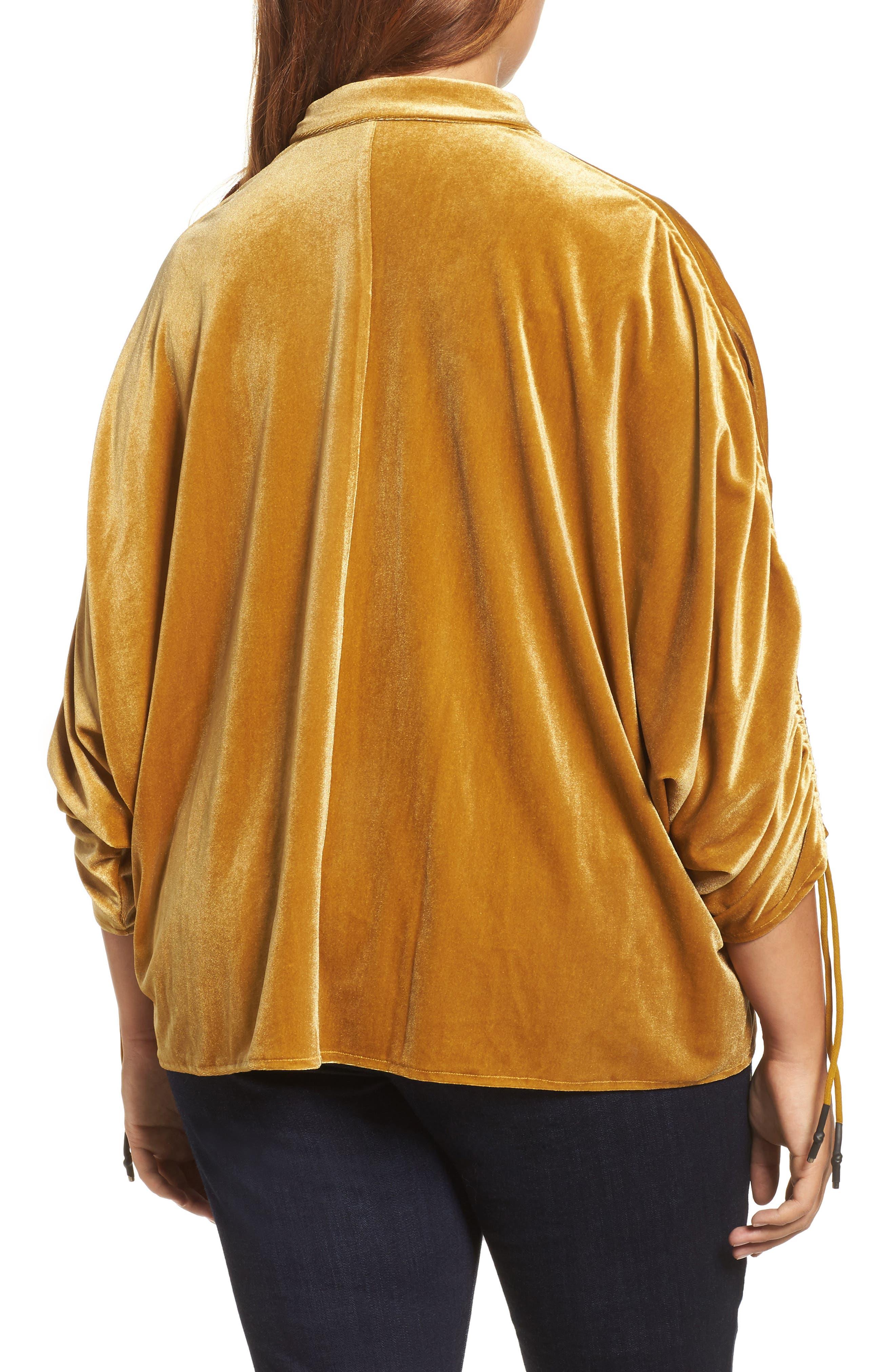 Velvet Velvet Gathered Sleeve Button Down Shirt,                             Alternate thumbnail 2, color,                             700