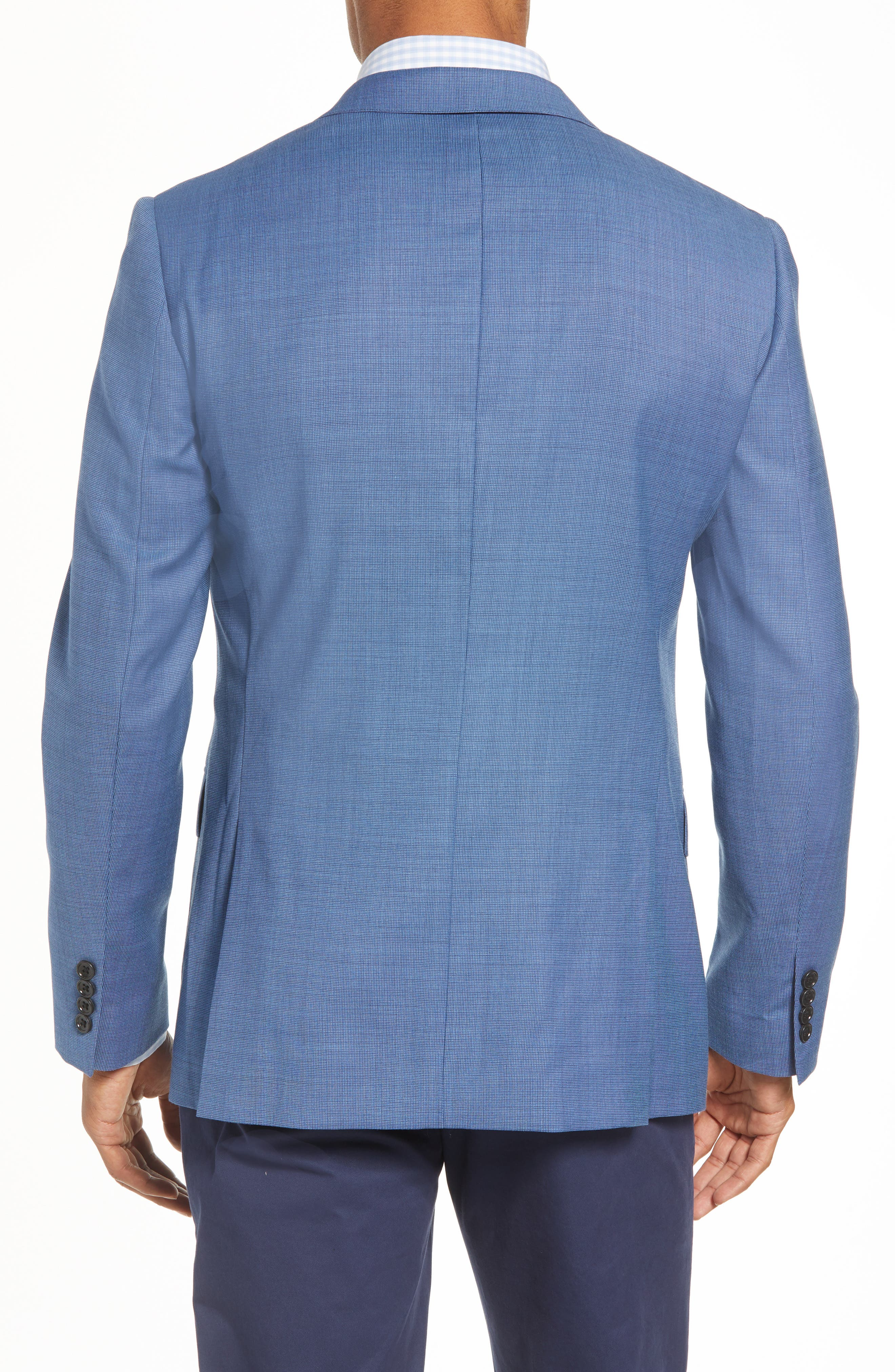 Jetsetter Trim Fit Stretch Solid Wool Suit Jacket,                             Alternate thumbnail 2, color,                             BRIGHTER BLUE