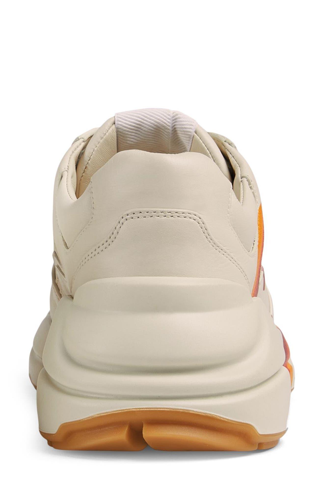 Rhyton Double G Sneaker,                             Alternate thumbnail 5, color,                             MYSTIC WHITE