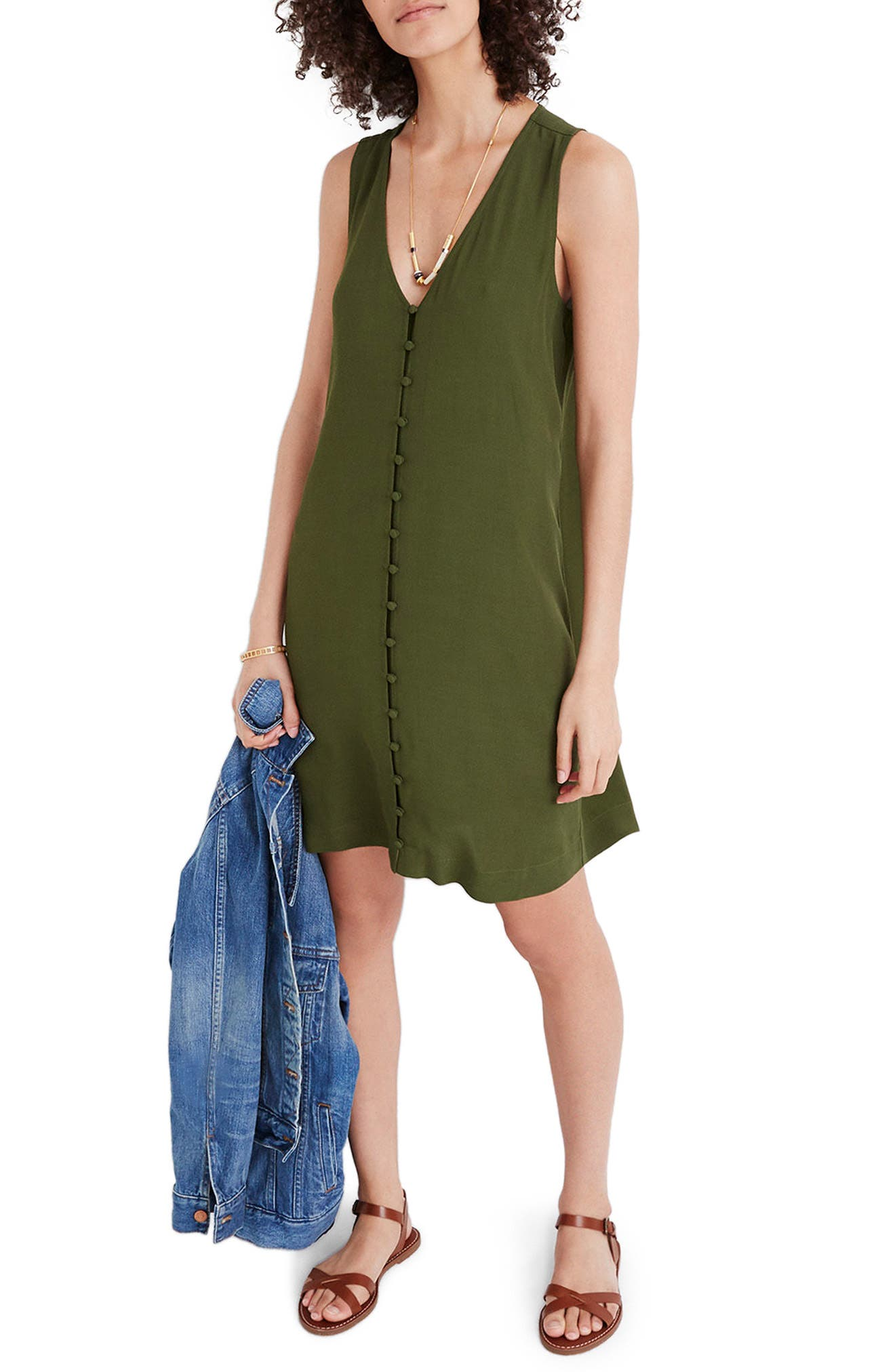 Heather Button Front Dress,                             Main thumbnail 1, color,                             SWEET BALSAM
