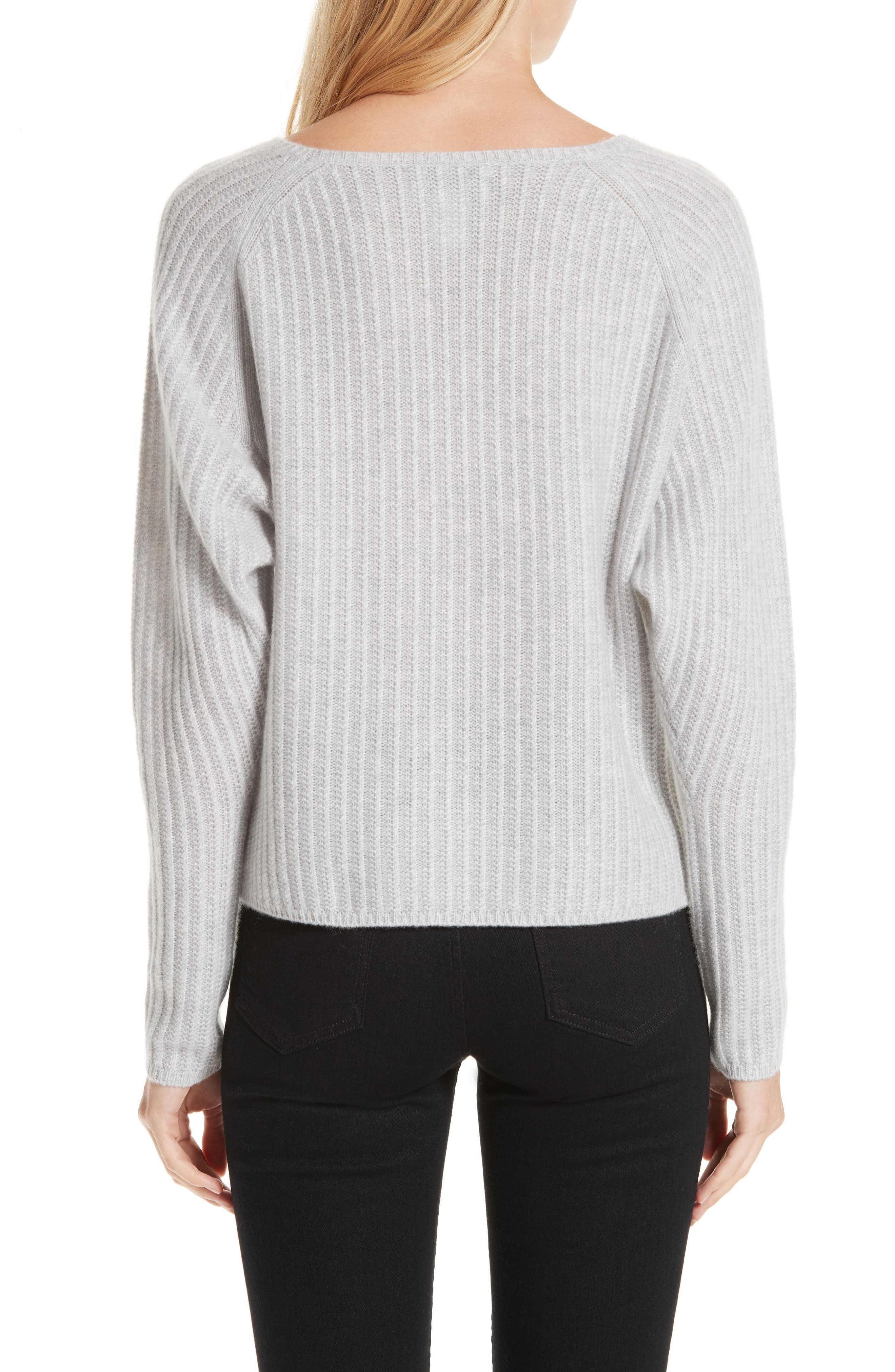 Textured Cashmere Sweater,                             Alternate thumbnail 2, color,                             GREY CLAY HEATHER