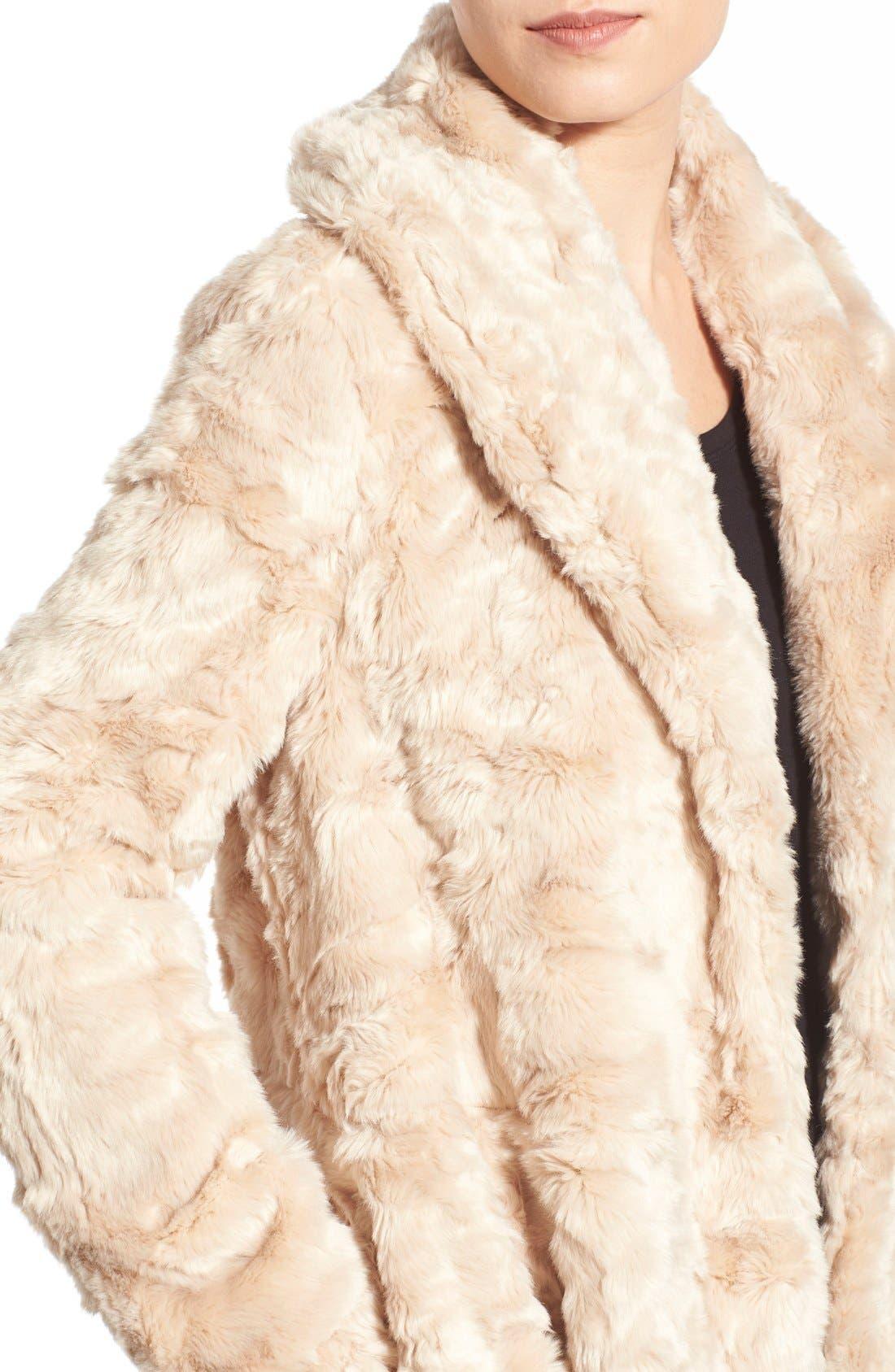 Swingy Faux Fur Jacket,                             Alternate thumbnail 4, color,                             650