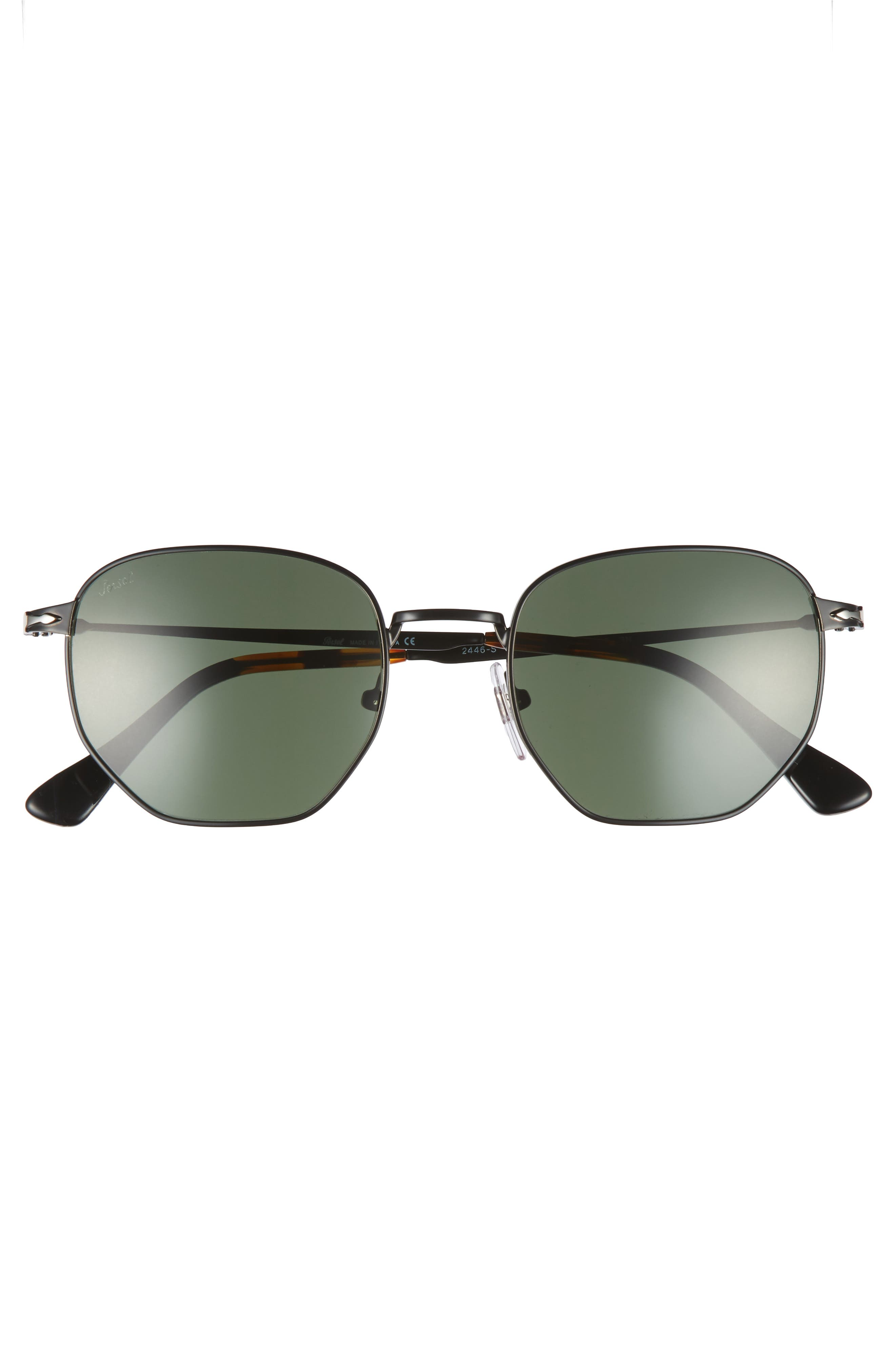 Irregular 52mm Sunglasses,                             Alternate thumbnail 2, color,                             BLACK