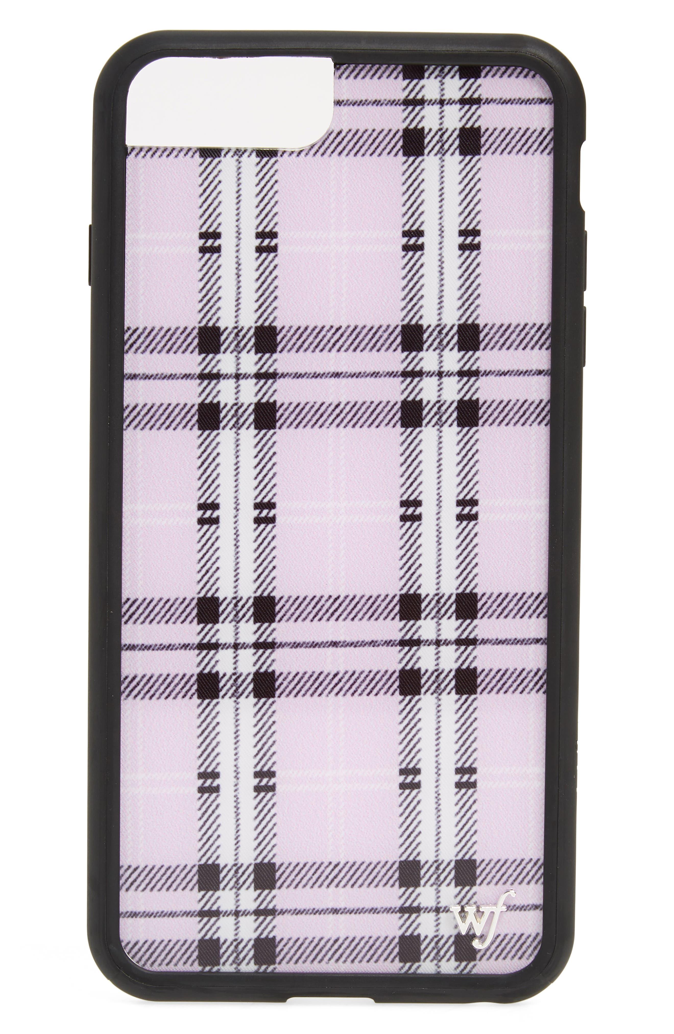 Tartan Plaid iPhone 6/7/8 Plus Case,                             Main thumbnail 1, color,                             LAVENDER