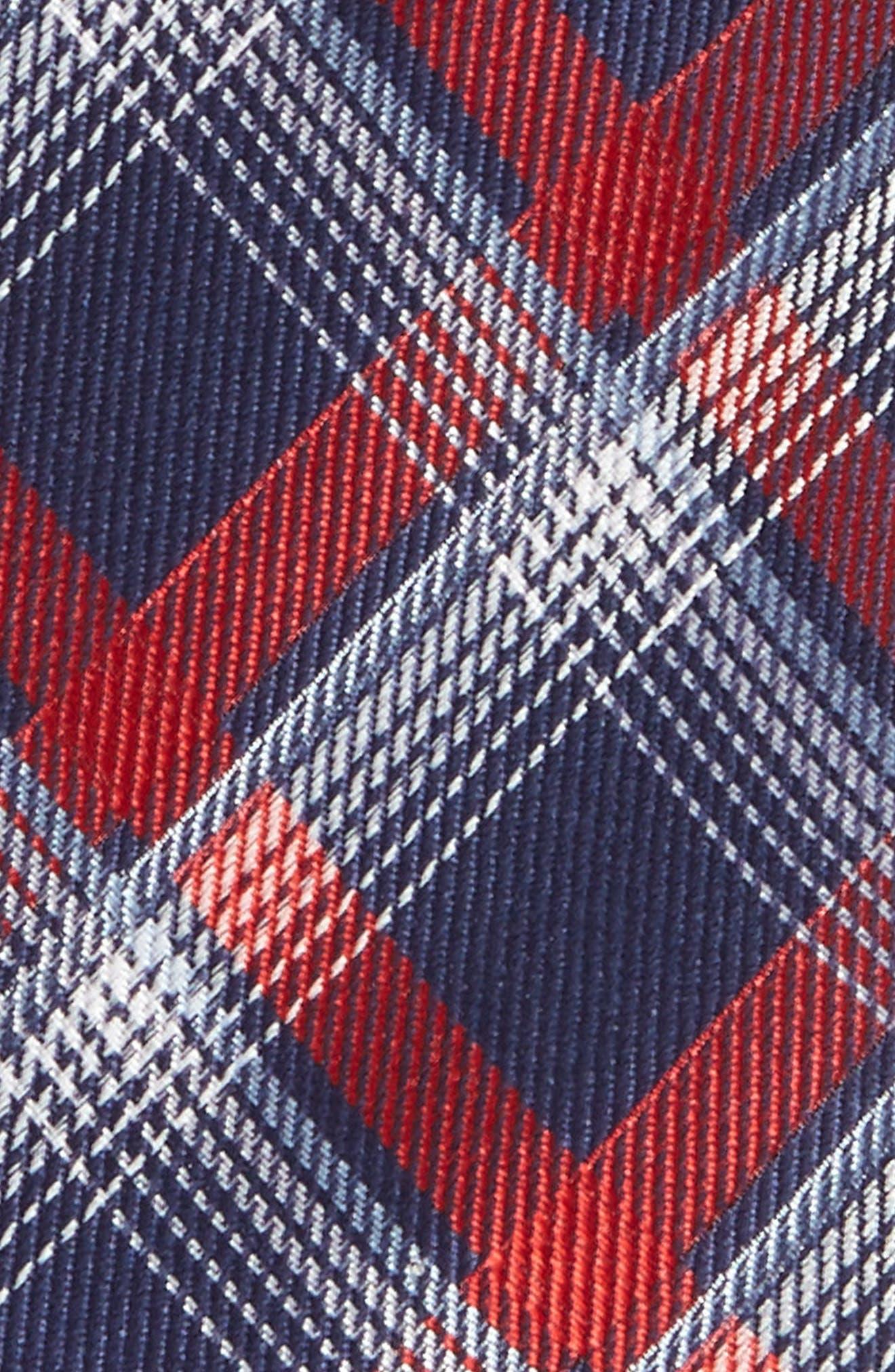 Plaid Silk Tie,                             Alternate thumbnail 2, color,                             600