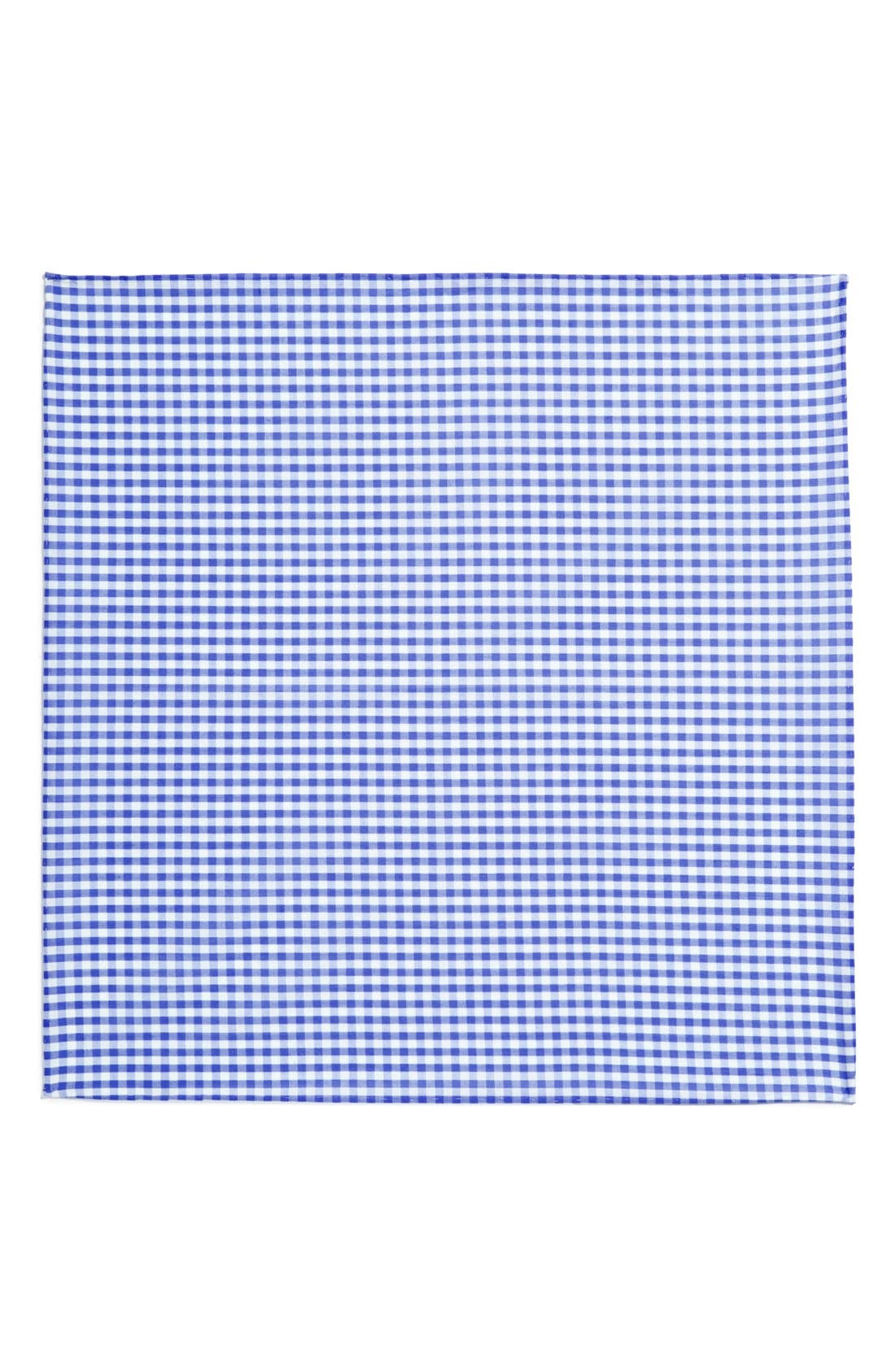 Cotton Gingham Pocket Square,                             Alternate thumbnail 12, color,