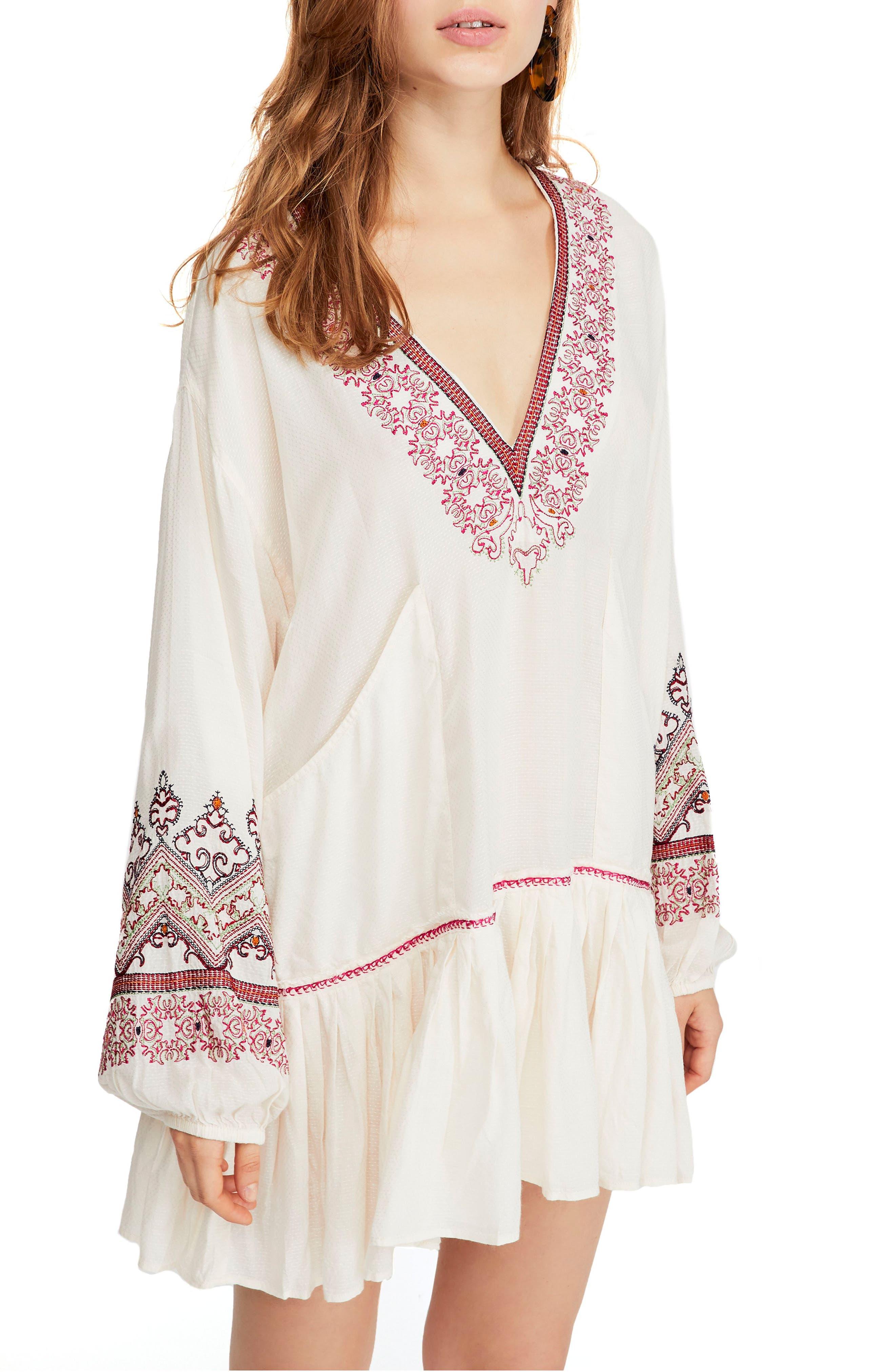 Free People Wild One Embellished Dress, Ivory