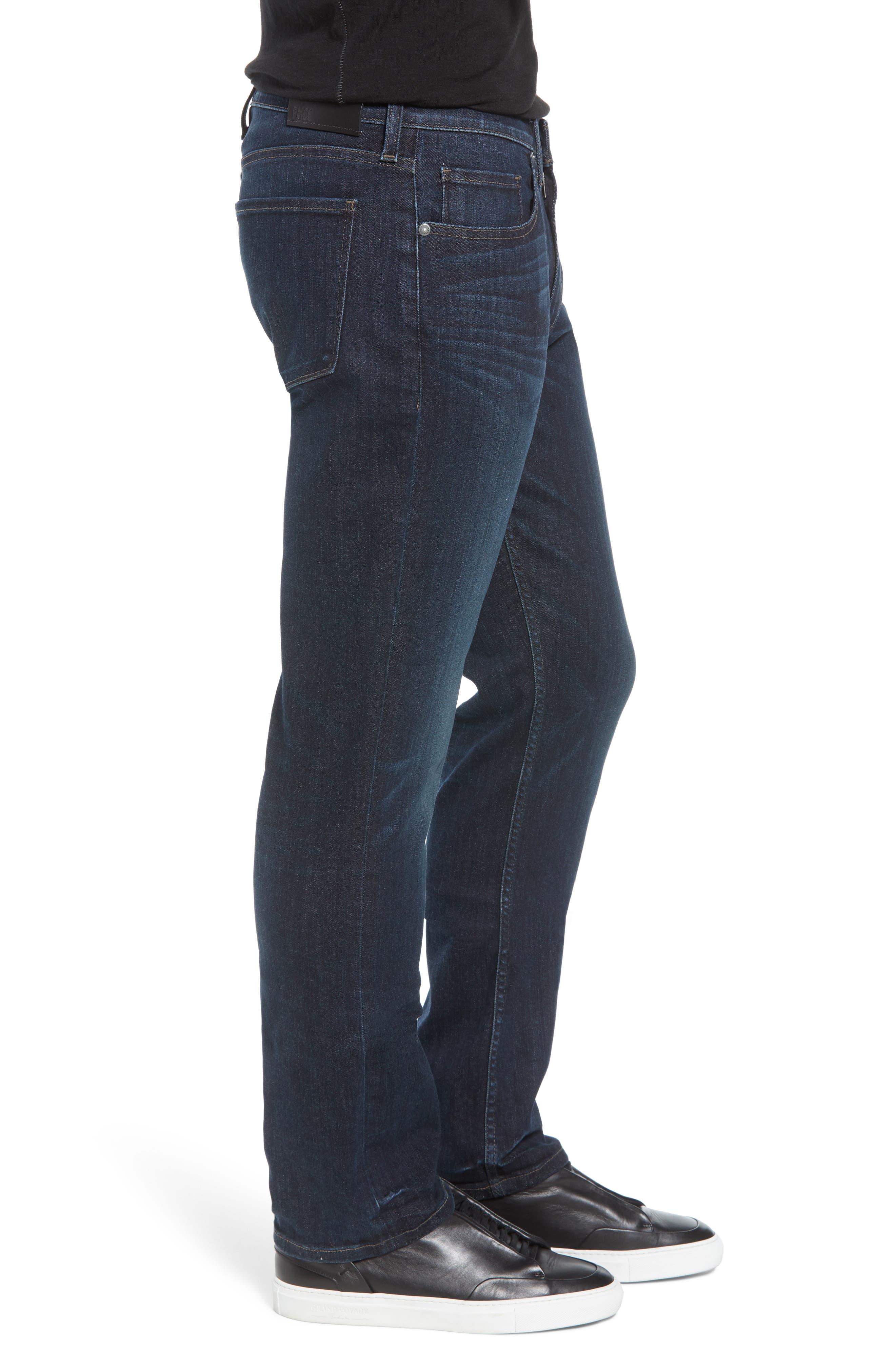 Transcend - Normandie Straight Leg Jeans,                             Alternate thumbnail 3, color,                             KENAN
