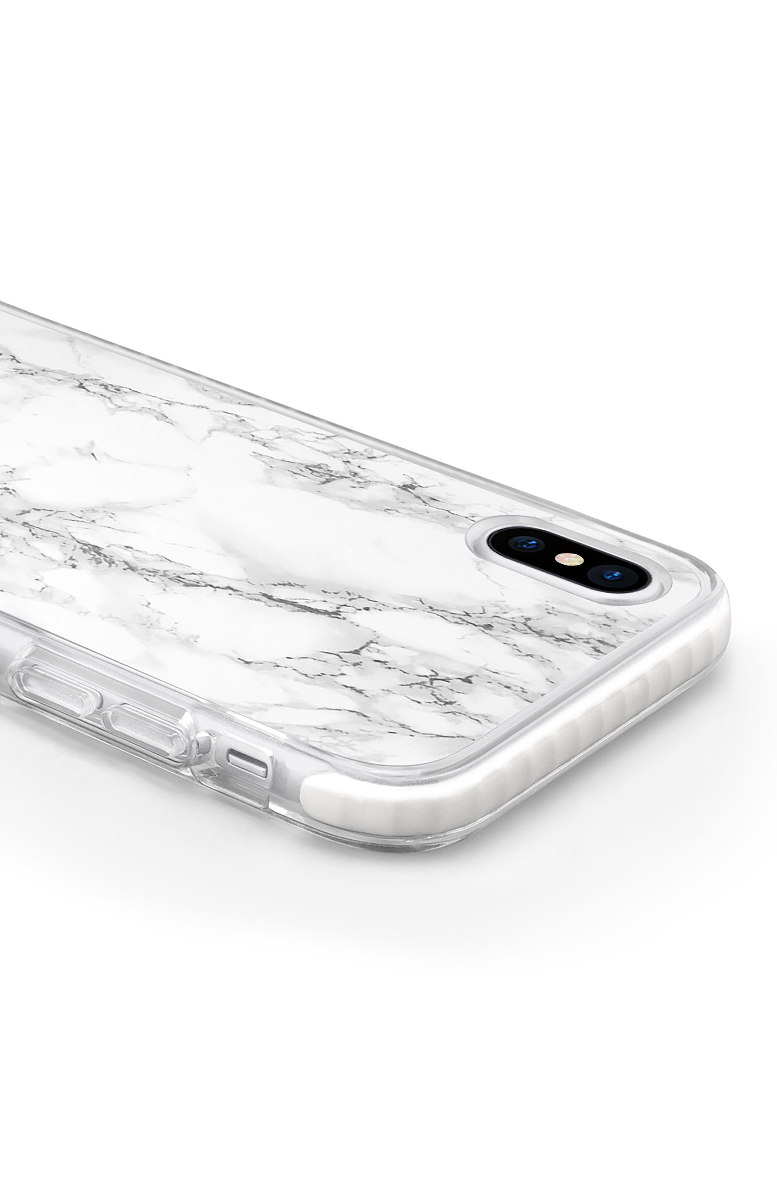 White Marble iPhone X/Xs Case,                             Alternate thumbnail 2, color,                             WHITE MARBLE
