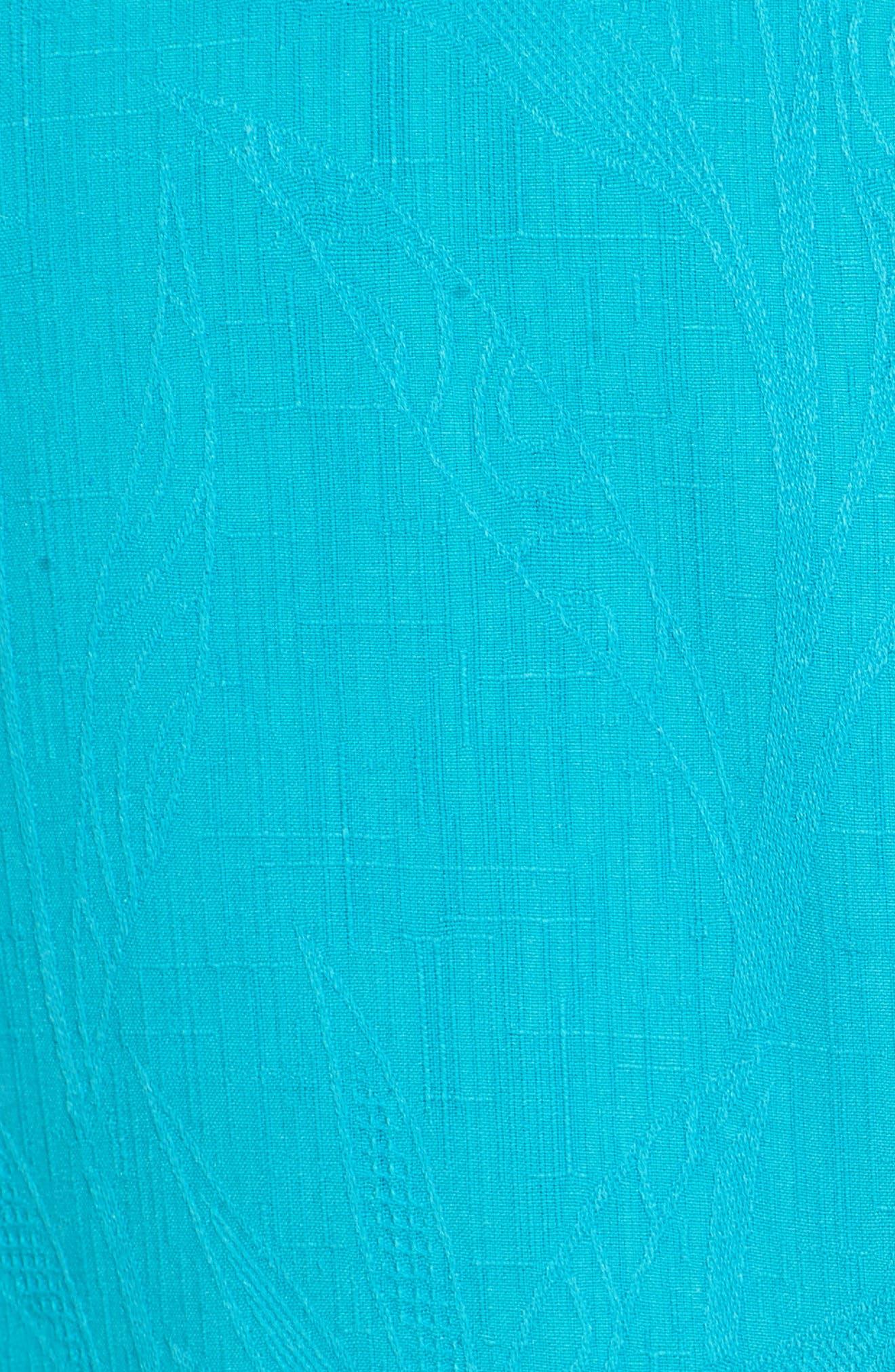 Islander Fronds Silk Camp Shirt,                             Alternate thumbnail 42, color,