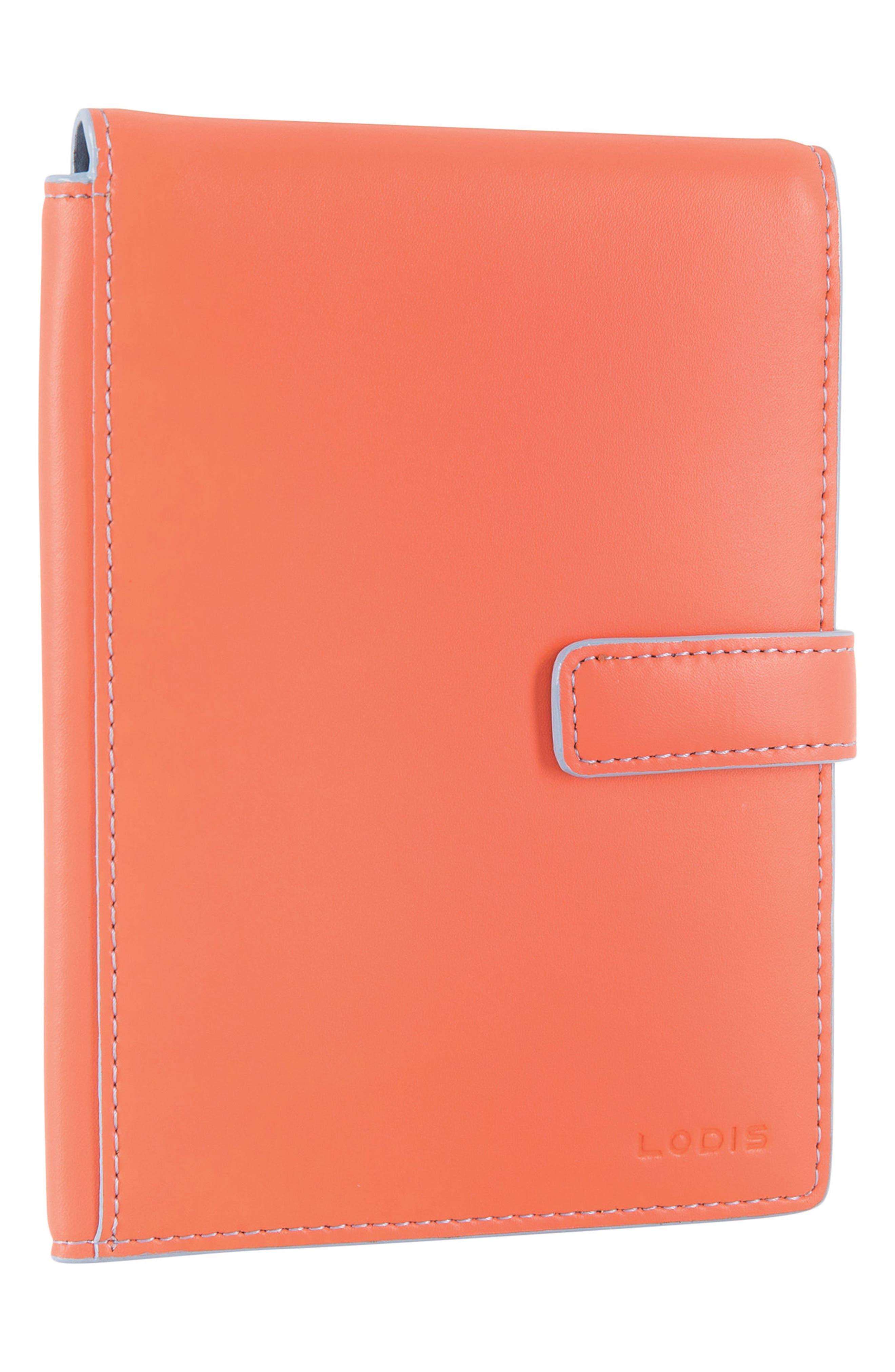 Audrey RFID Leather Passport Wallet,                             Alternate thumbnail 24, color,
