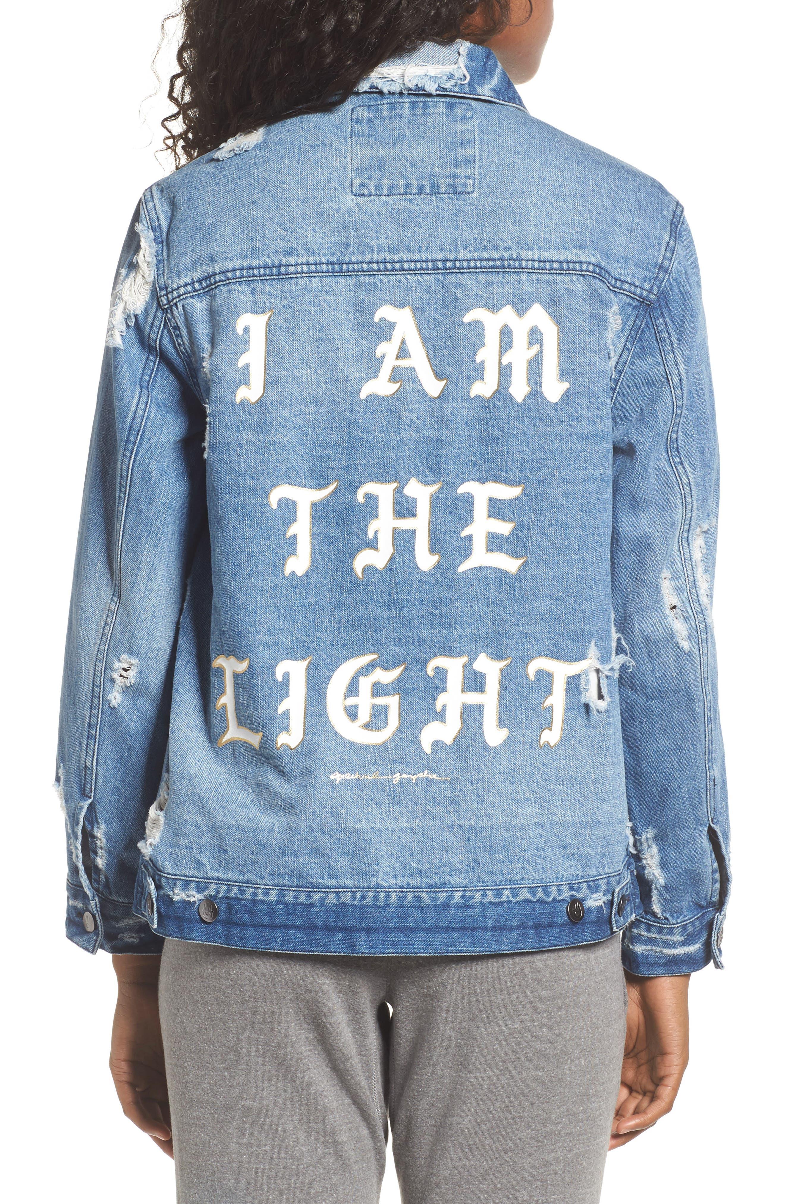 I Am the Light Denim Jacket,                             Alternate thumbnail 2, color,                             400