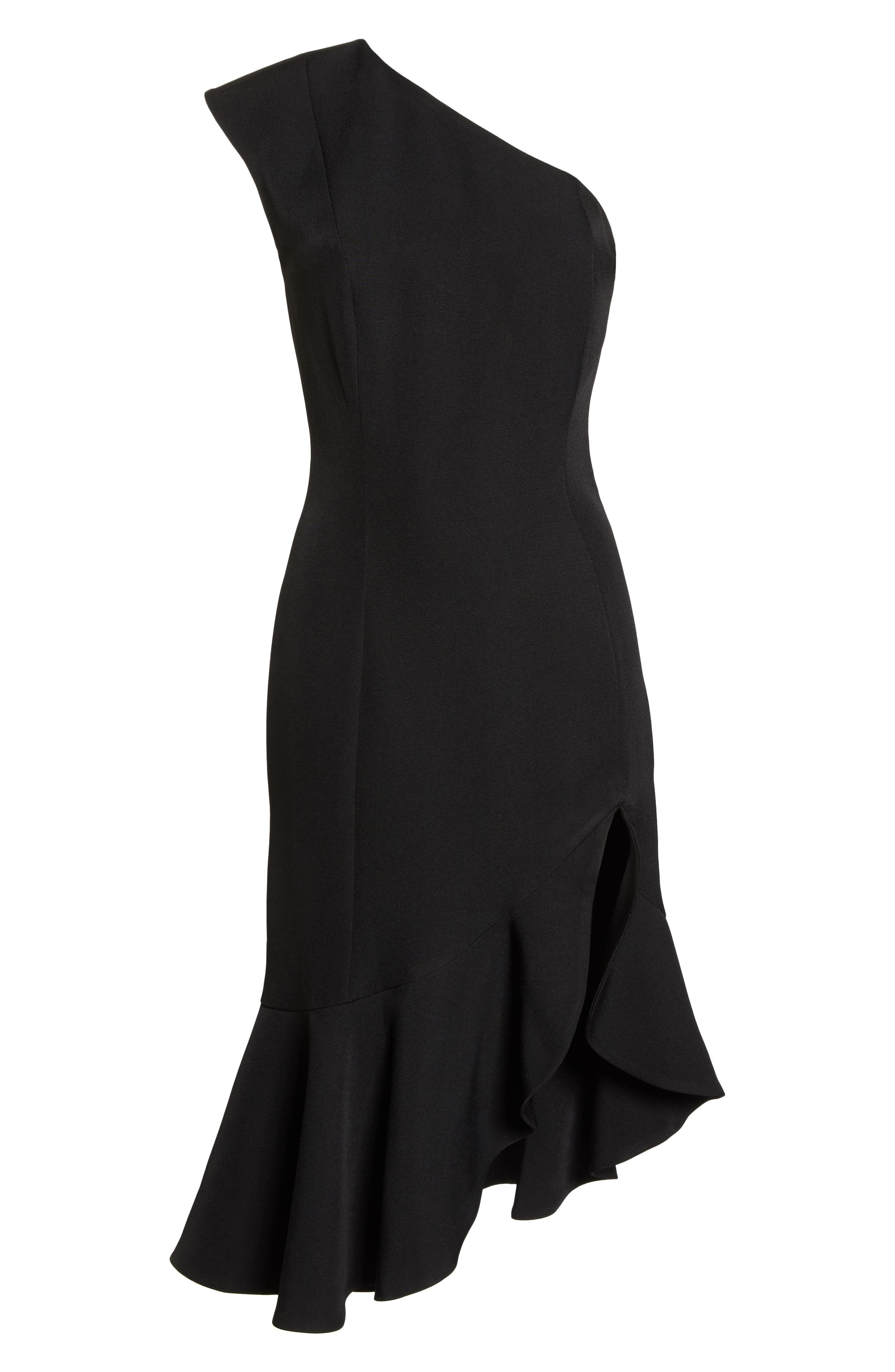 KEEPSAKE THE LABEL,                             Mirrors One-Shoulder Asymmetrical Dress,                             Alternate thumbnail 7, color,                             001