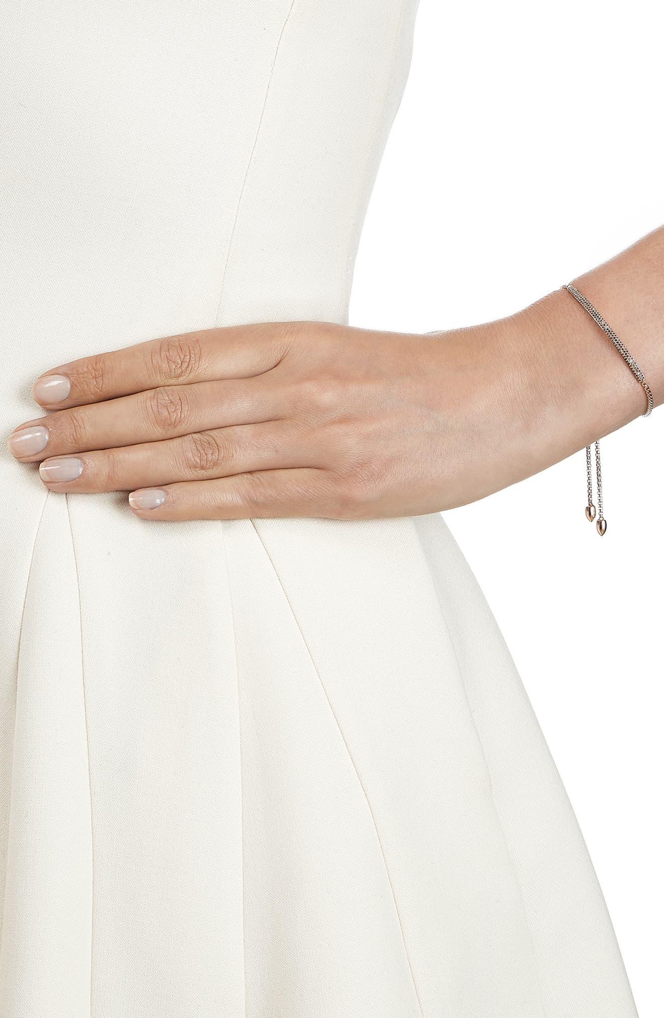 Stellar Pavé Diamond Mini Bar Bracelet,                             Alternate thumbnail 3, color,                             ROSE GOLD
