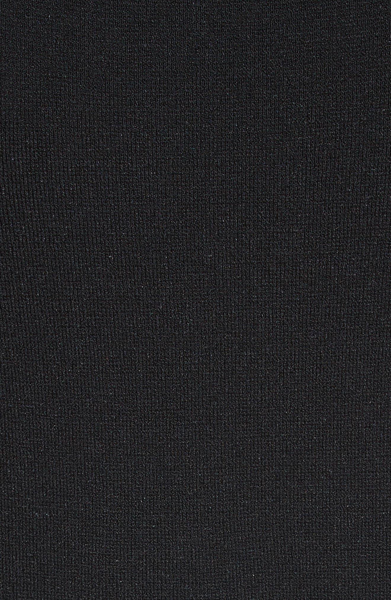 Knit Tank Dress,                             Alternate thumbnail 5, color,                             001