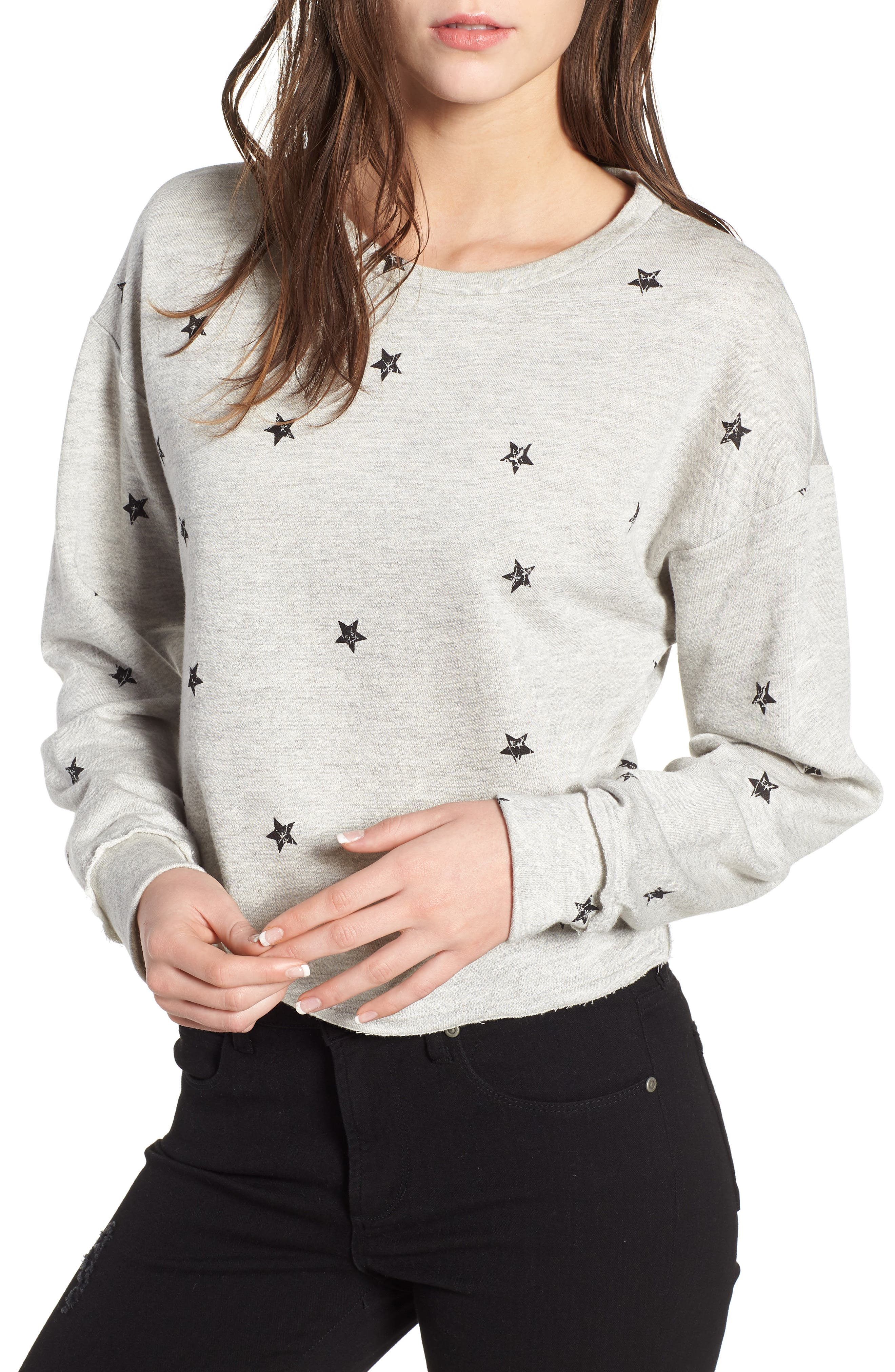Star Print Sweatshirt,                         Main,                         color, 035