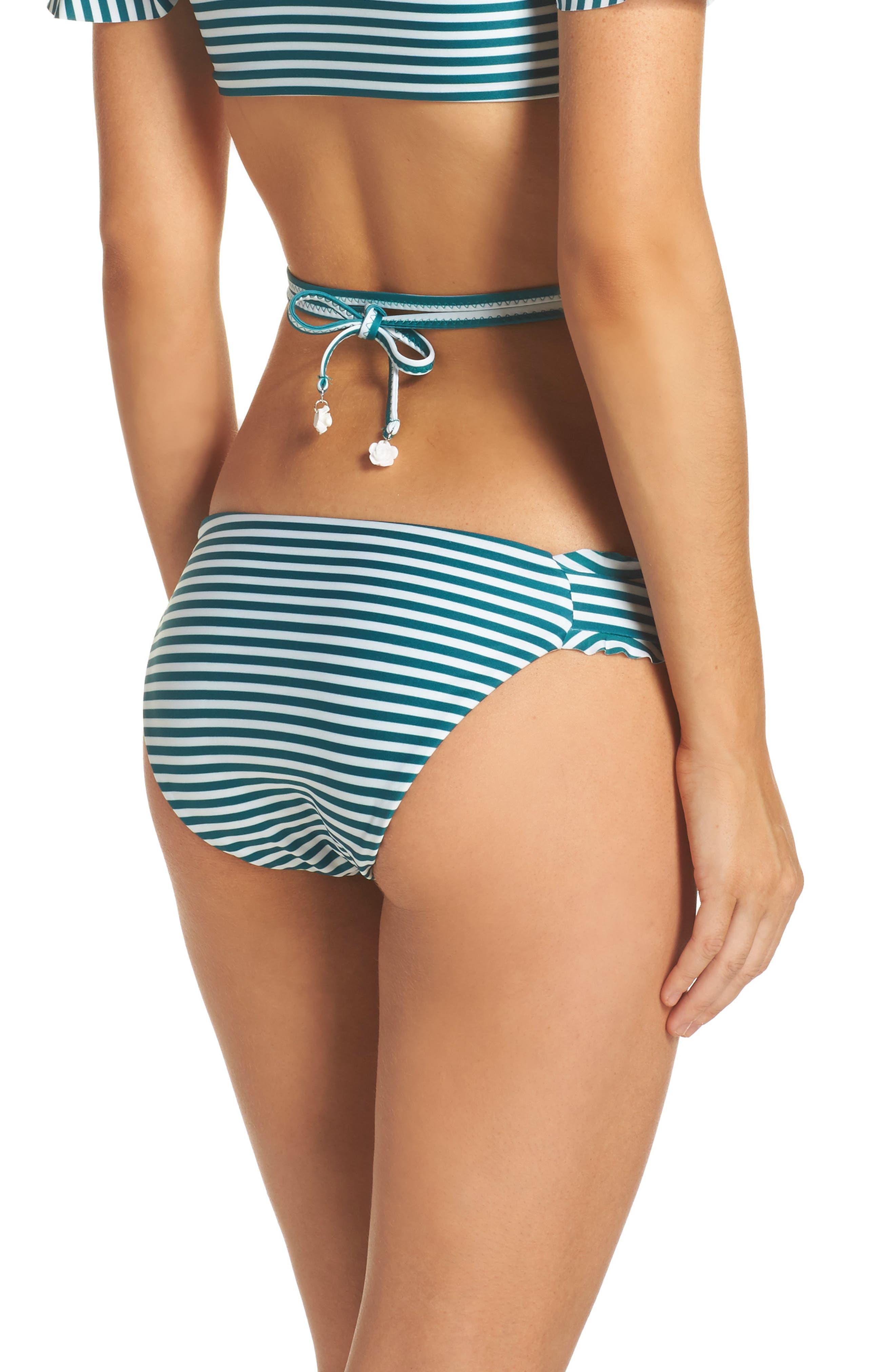 Avalon Ruffle Bikini Bottoms,                             Alternate thumbnail 2, color,                             001