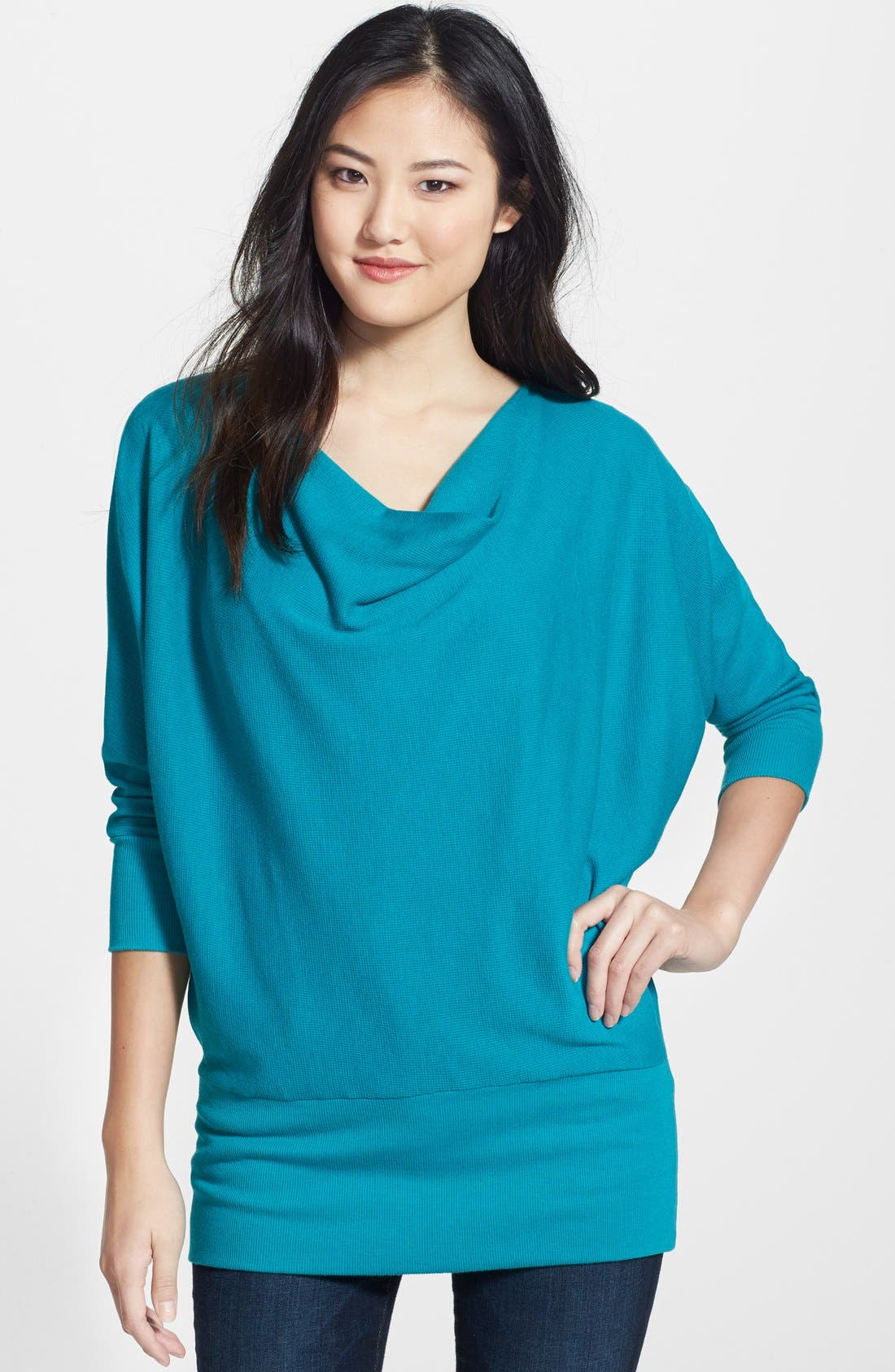 'Aidan' Drape Neck Thermal Top,                             Main thumbnail 5, color,