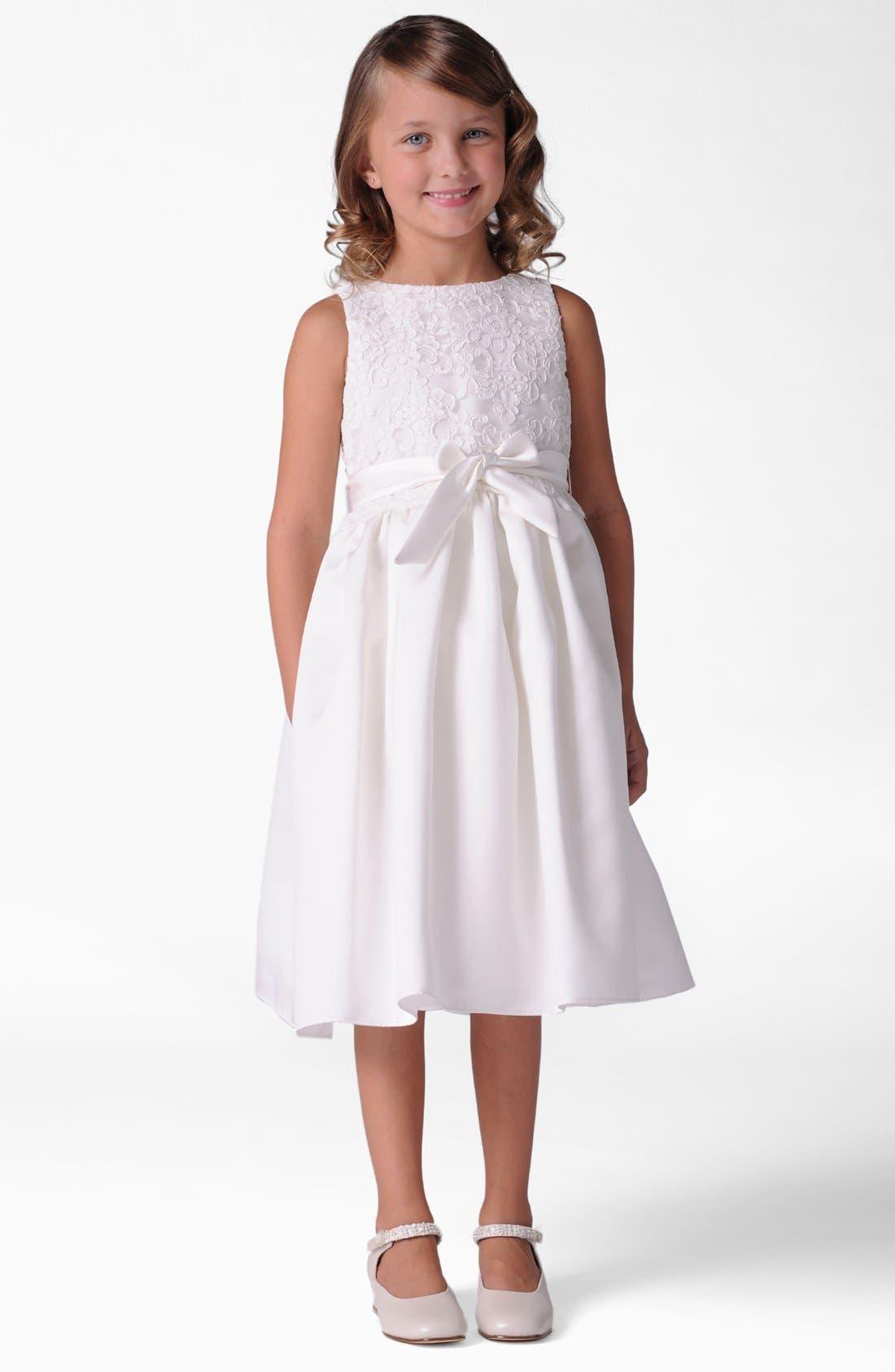 Lace Dress,                             Main thumbnail 1, color,                             IVORY/ IVORY