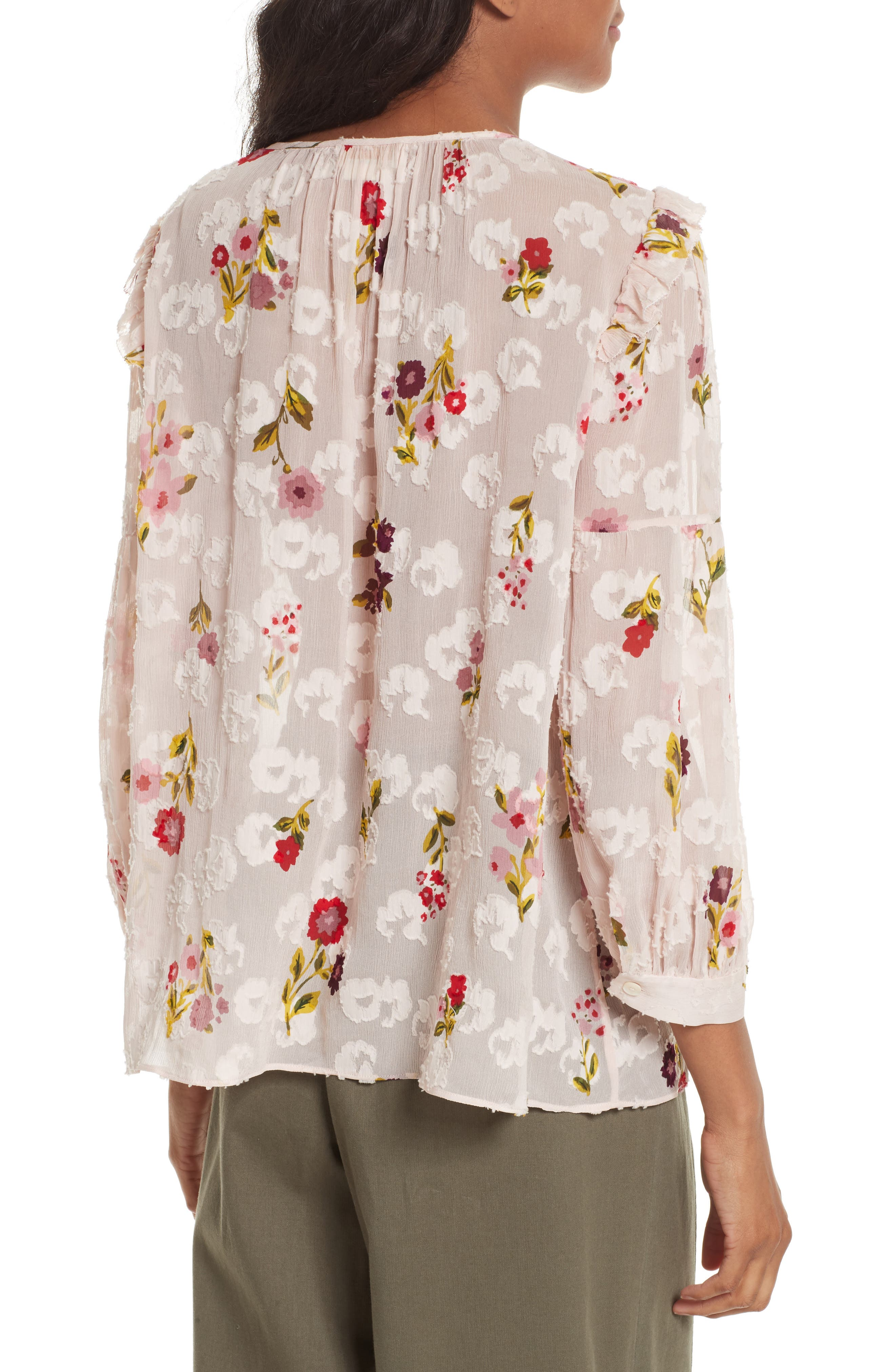 in bloom chiffon top,                             Alternate thumbnail 2, color,                             677