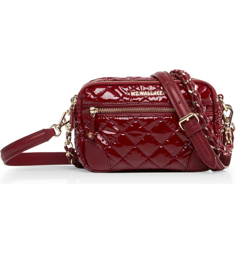 Mz Wallace MINI CROSBY QUILTED CROSSBODY BAG - RED
