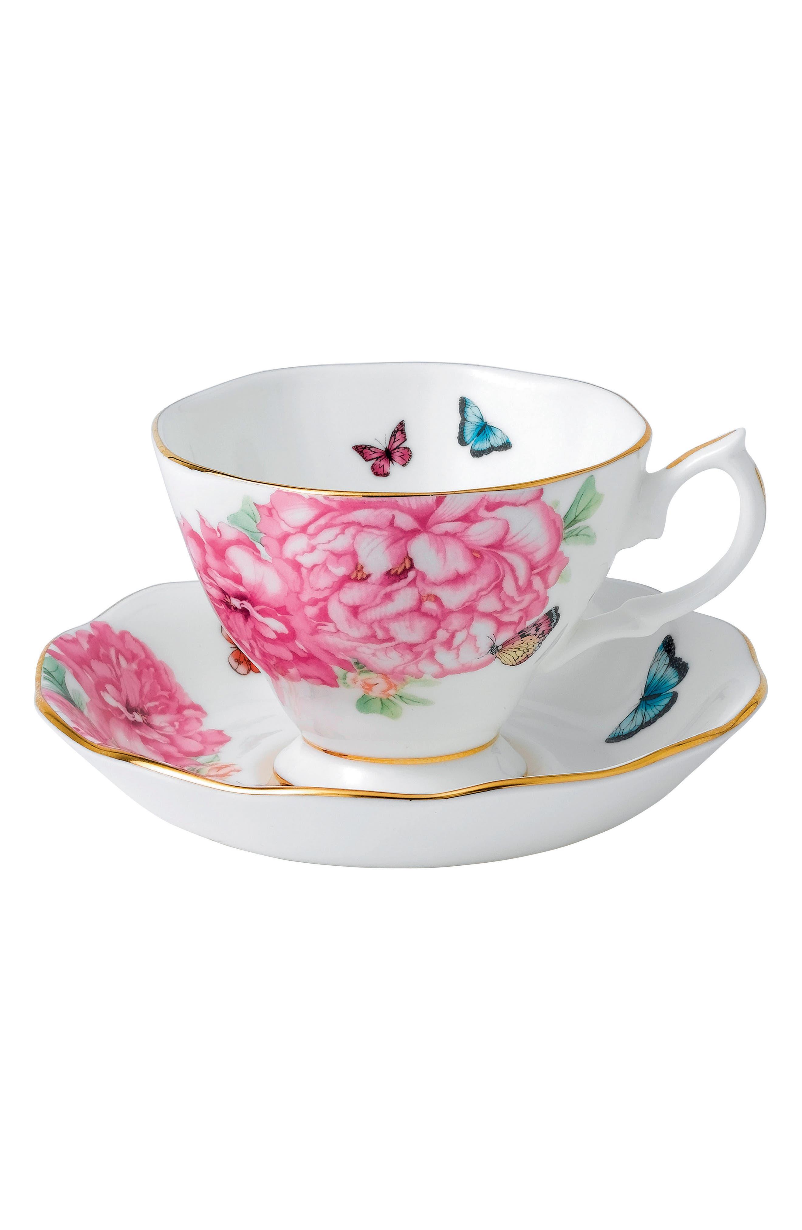 Friendship Teacup & Saucer,                             Main thumbnail 1, color,