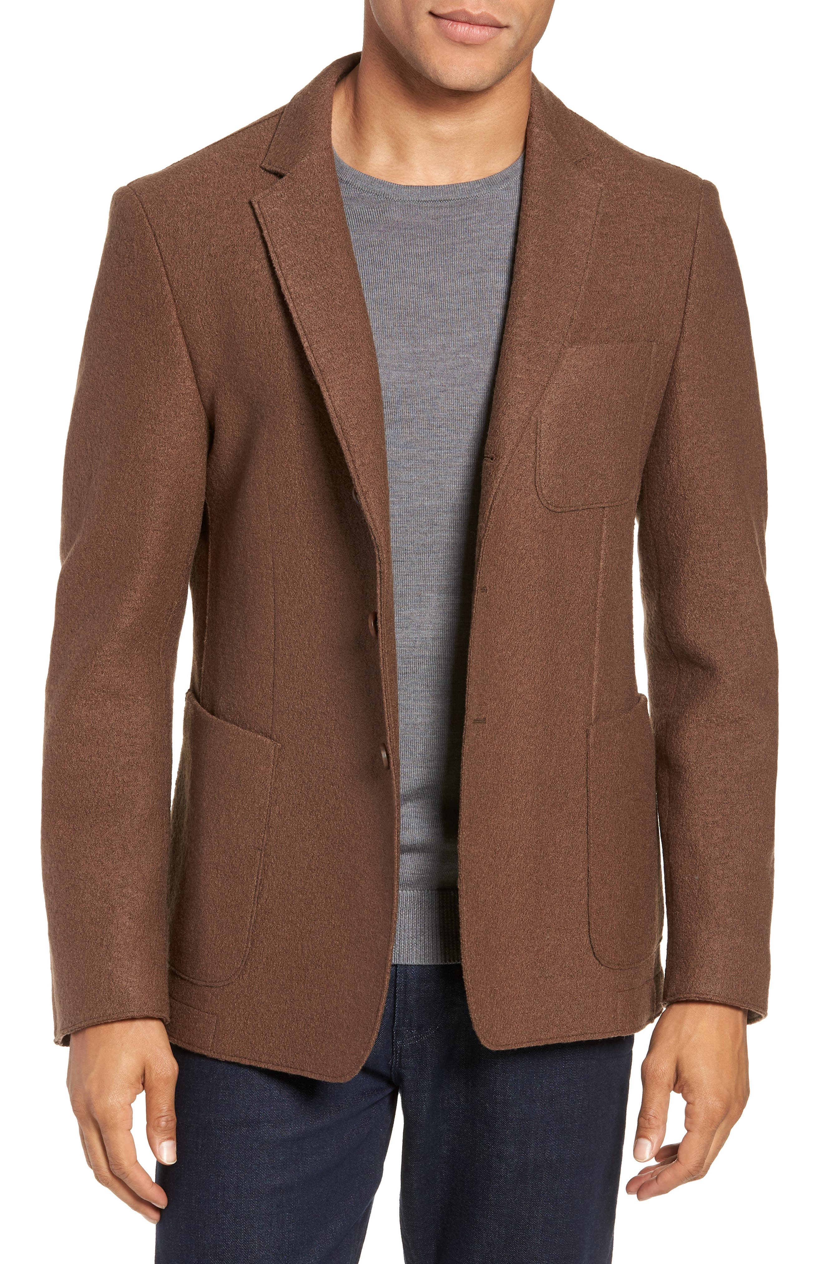 Nixan Trim Fit Wool Sport Coat,                             Main thumbnail 1, color,                             LIGHT/ PASTEL BROWN