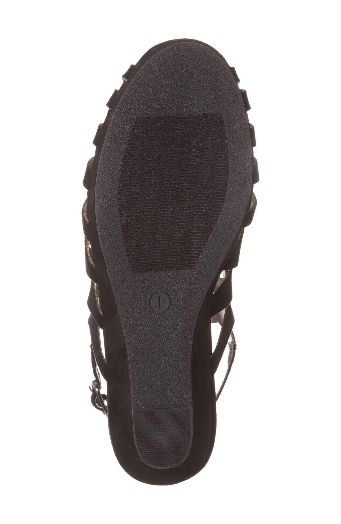 'Jslithr' Cage Wedge Sandal,                             Alternate thumbnail 2, color,                             BLACK