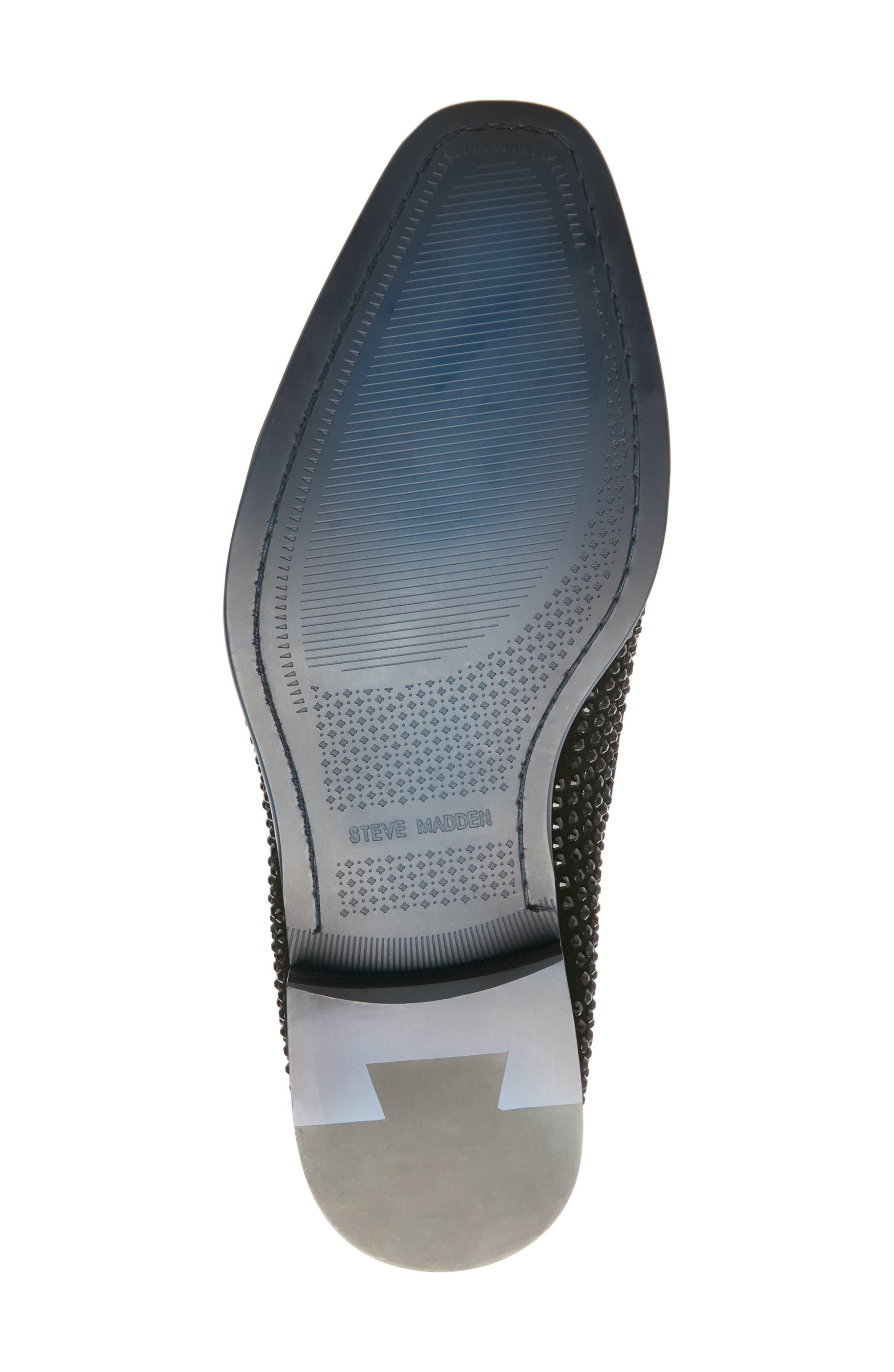Falsetto Studded Venetian Loafer,                             Alternate thumbnail 6, color,                             BLACK