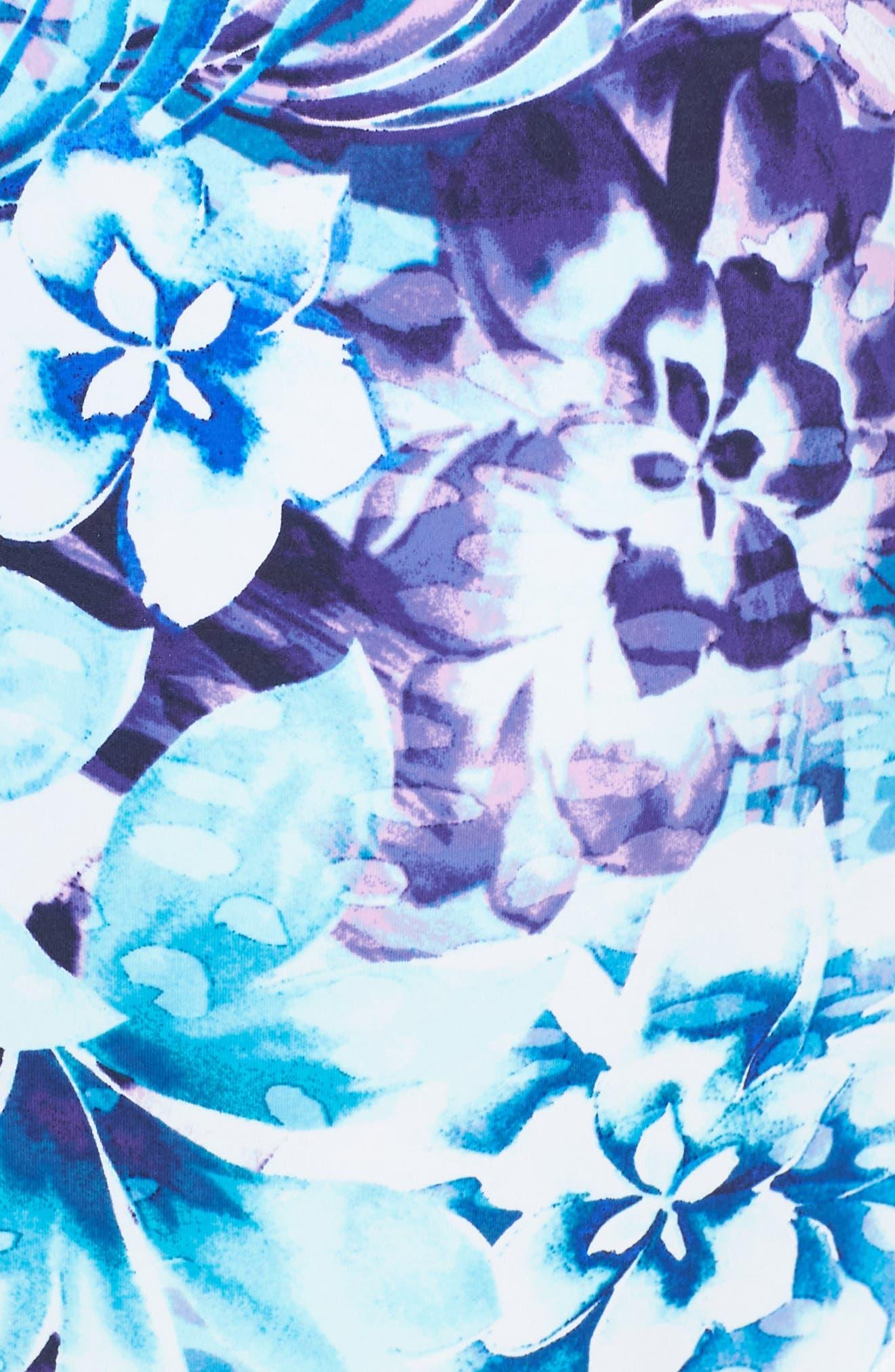 TOMMY BAHAMA,                             Sculpt Aqua Petals One-Piece Swimsuit,                             Alternate thumbnail 5, color,                             WHITE