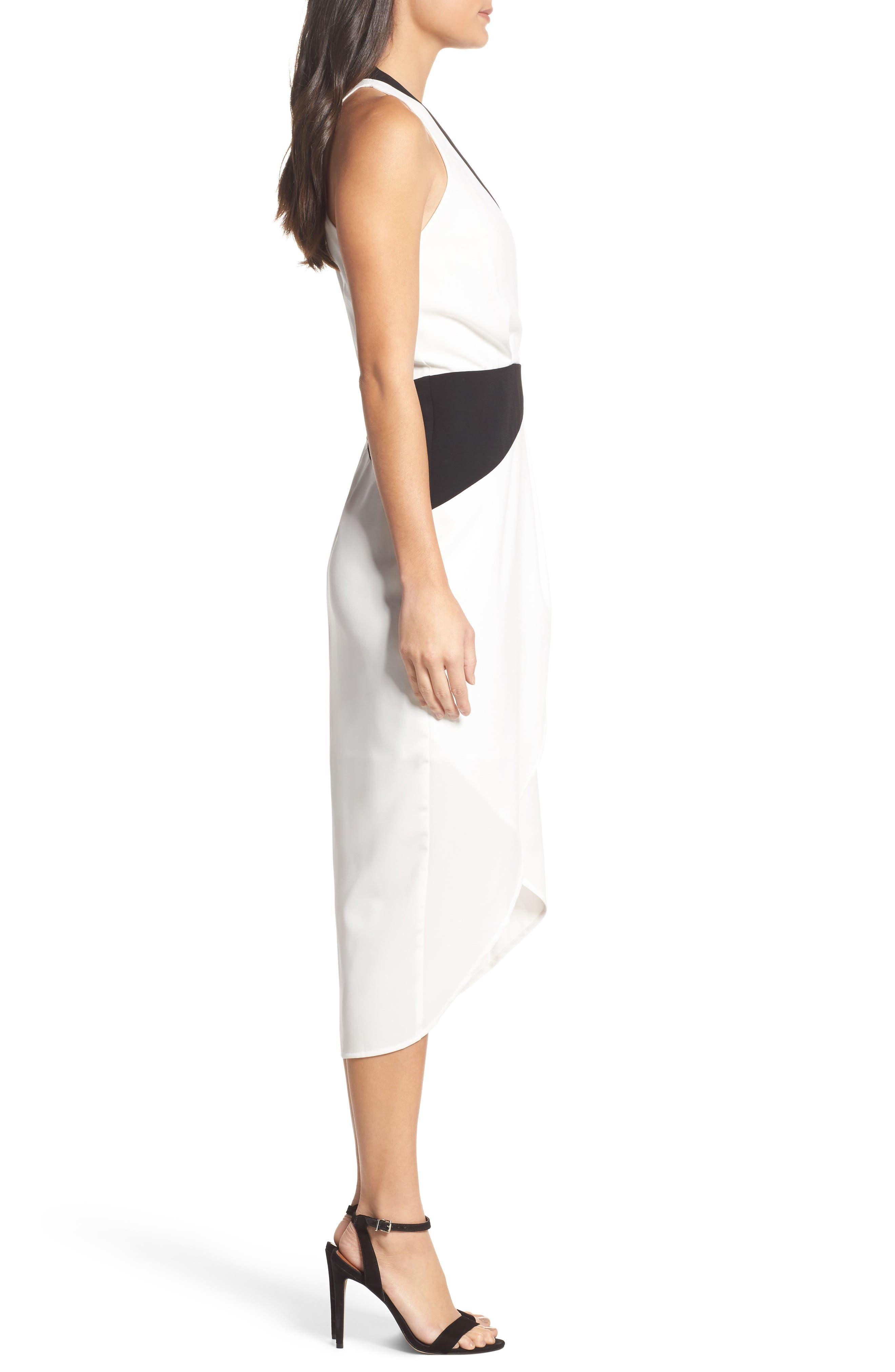 Claudia Drape Midi Dress,                             Alternate thumbnail 5, color,