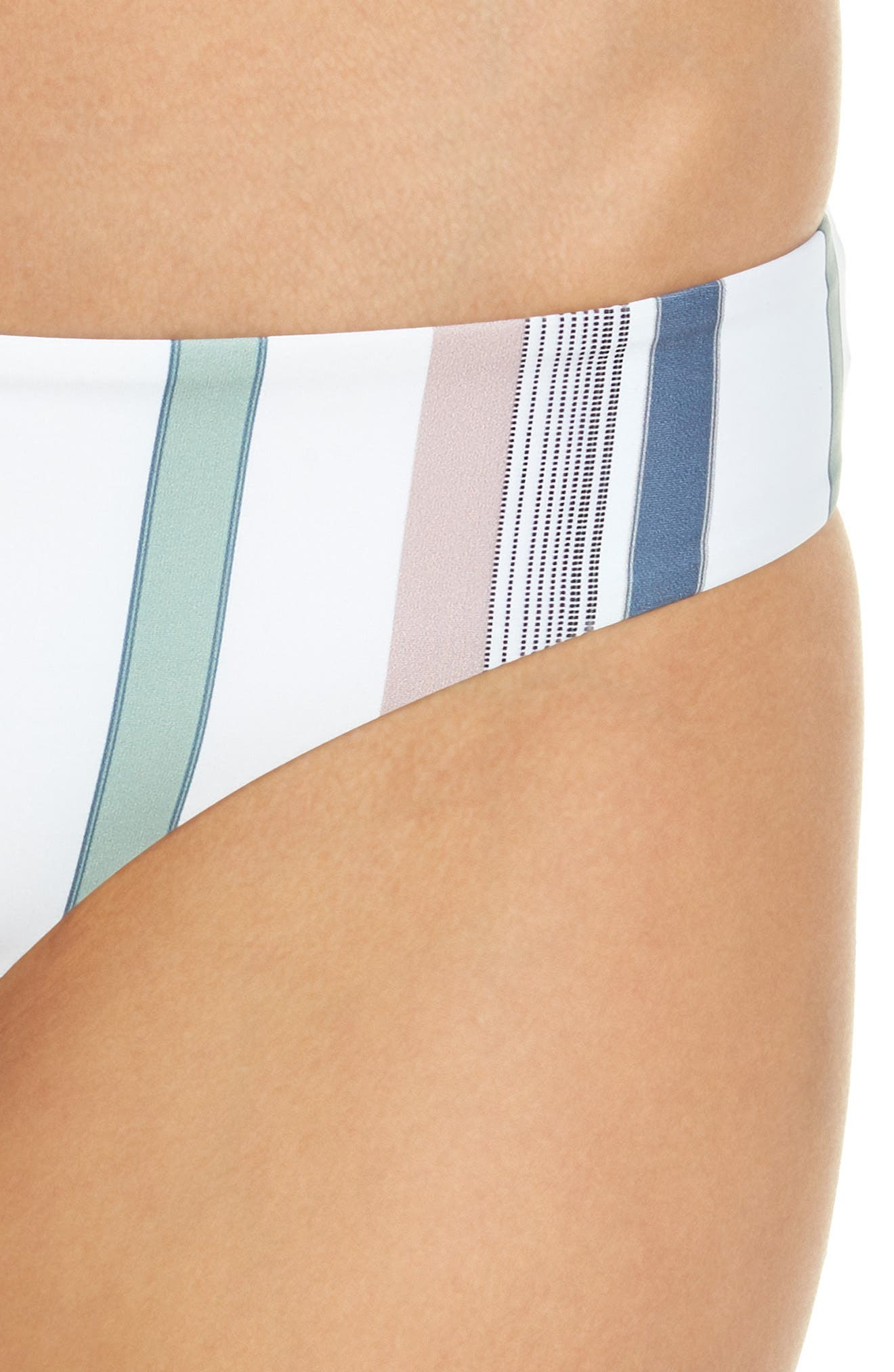 Ali Bikini Bottoms,                             Alternate thumbnail 4, color,                             MEADOW GREEN STRIPE