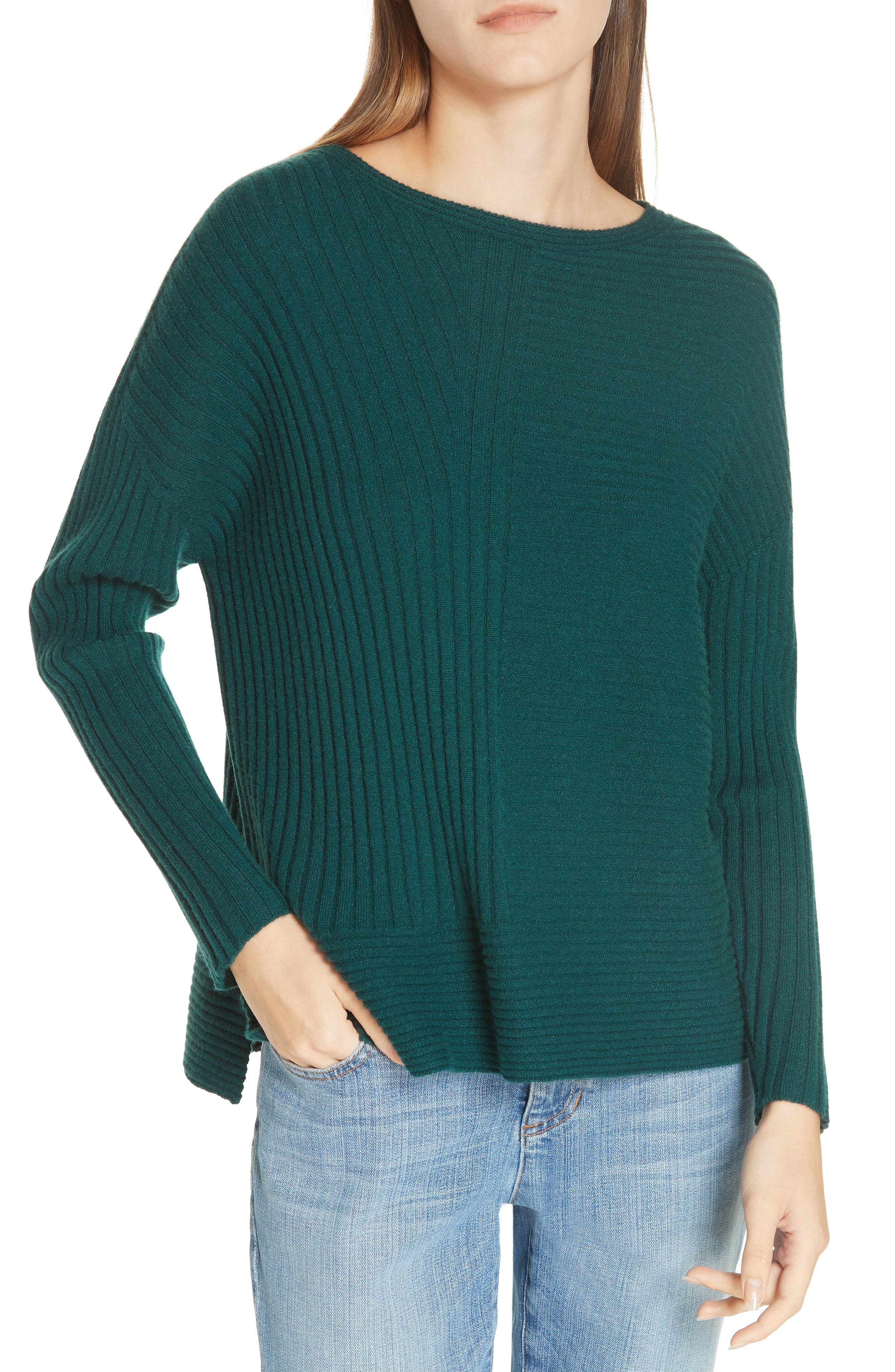 Ribbed Cashmere Sweater,                         Main,                         color, 303