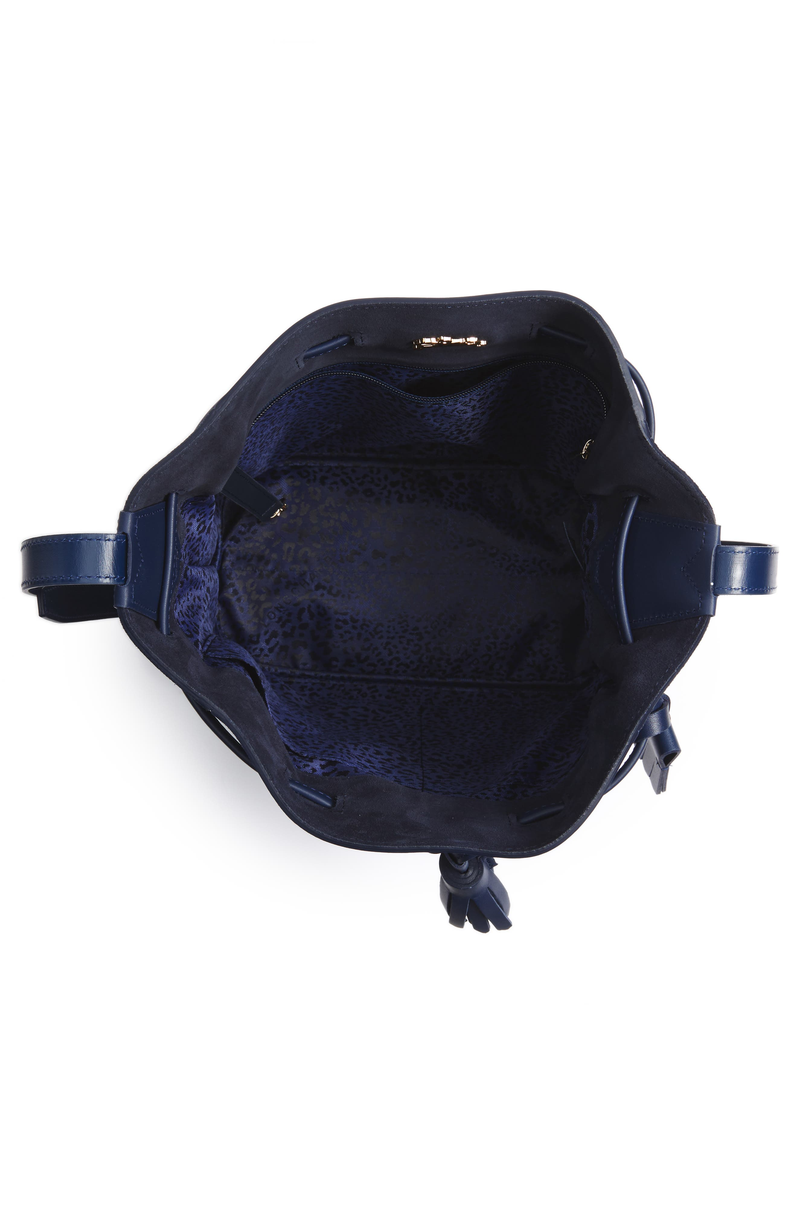Penelope Fantasie Leather Bucket Bag,                             Alternate thumbnail 11, color,