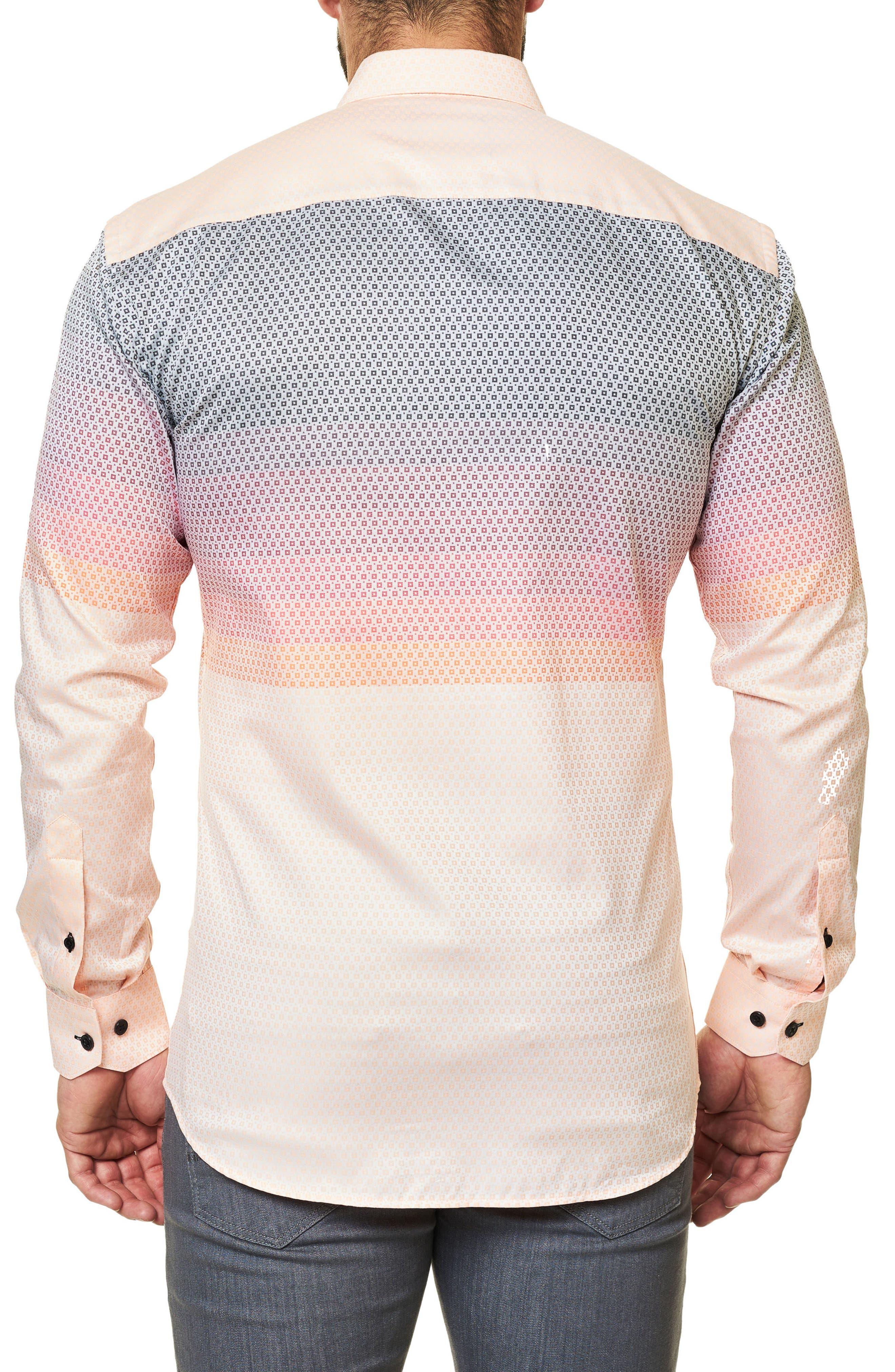 Luxor Moderian Orange Trim Fit Sport Shirt,                             Alternate thumbnail 2, color,                             811