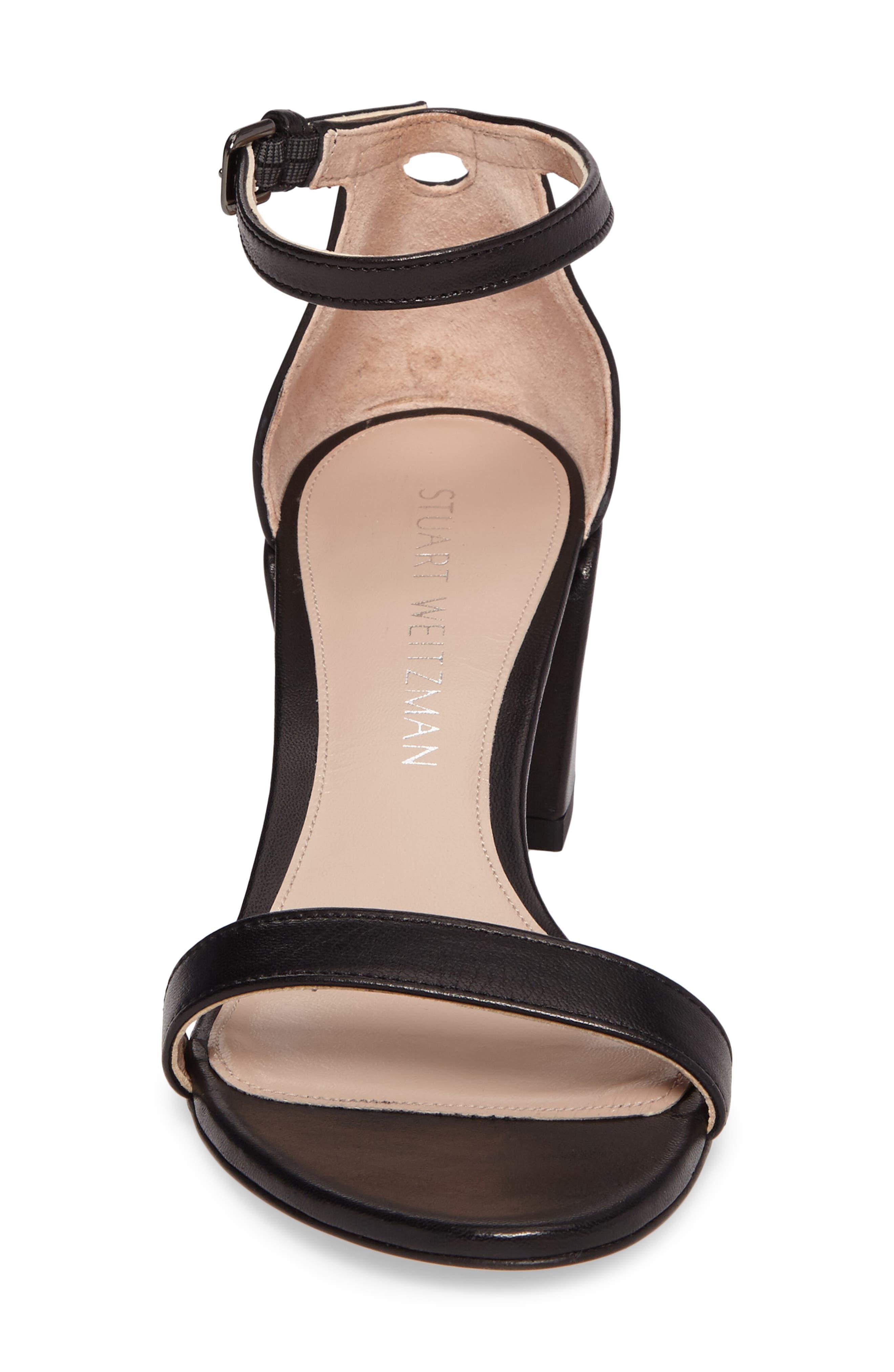 Simple Ankle Strap Sandal,                             Alternate thumbnail 4, color,                             002