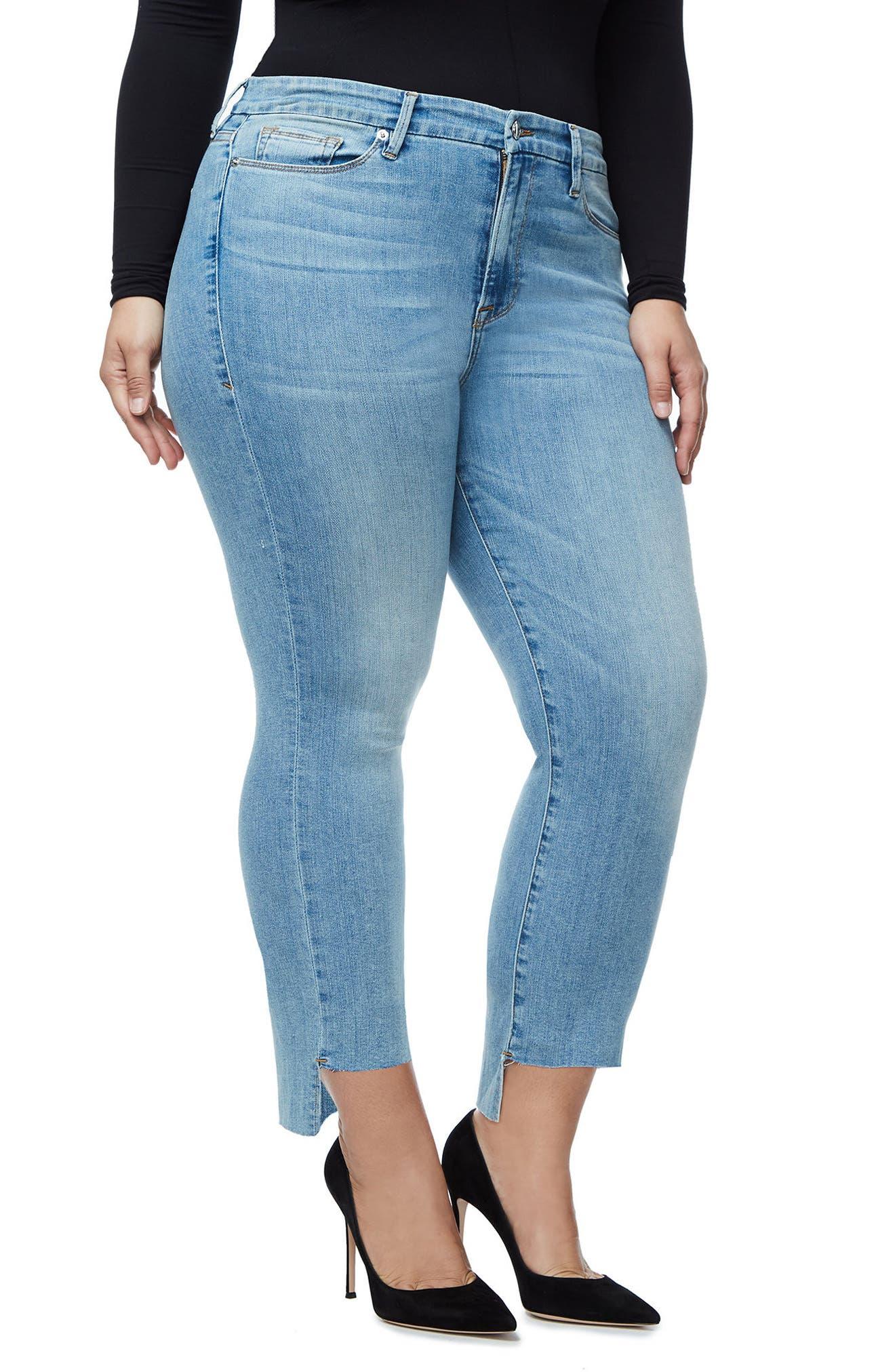 Good Legs High Waist Ankle Skinny Jeans,                             Alternate thumbnail 3, color,                             401