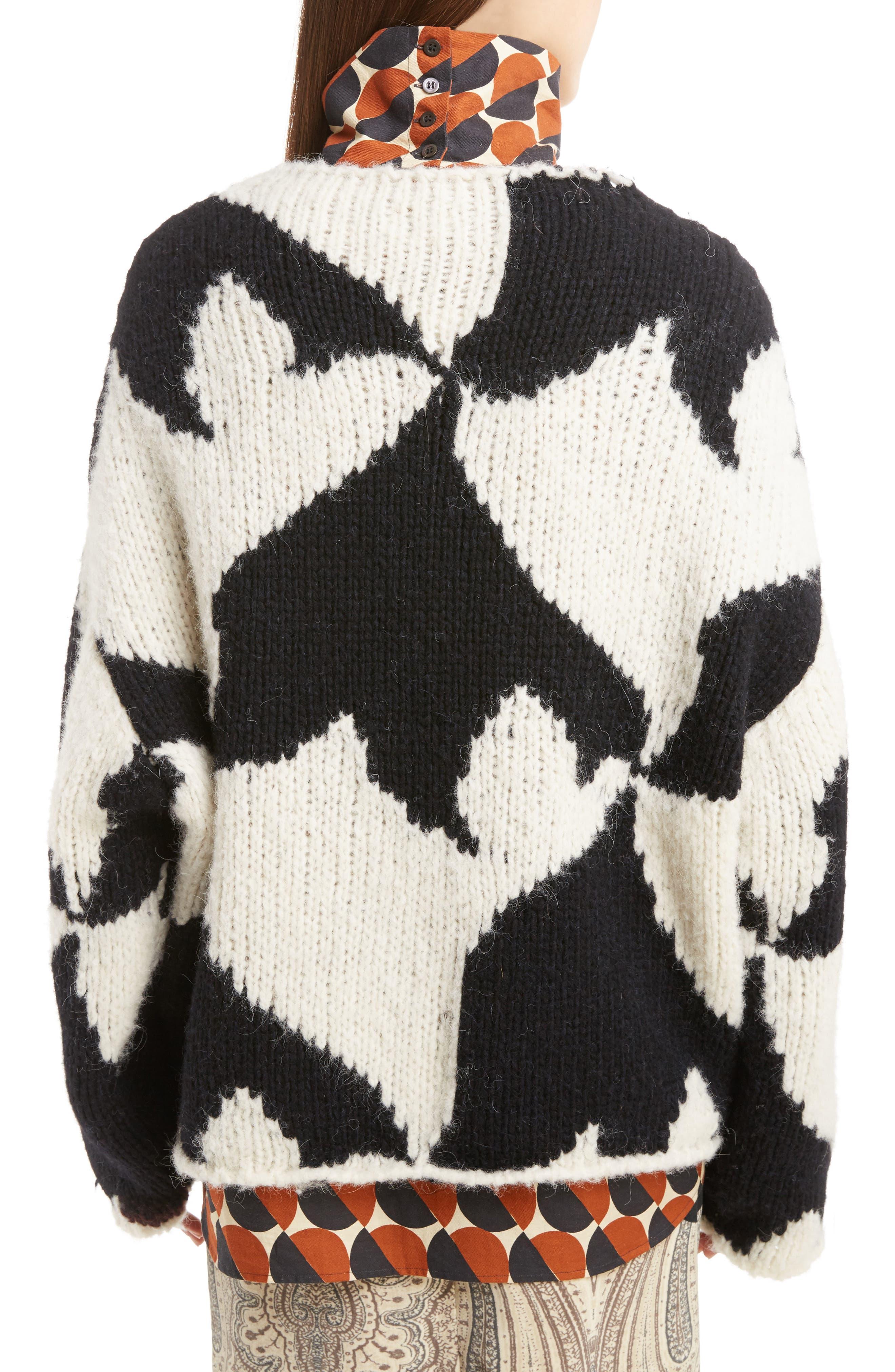 Geo Intarsia Wool Blend Sweater,                             Alternate thumbnail 2, color,                             900