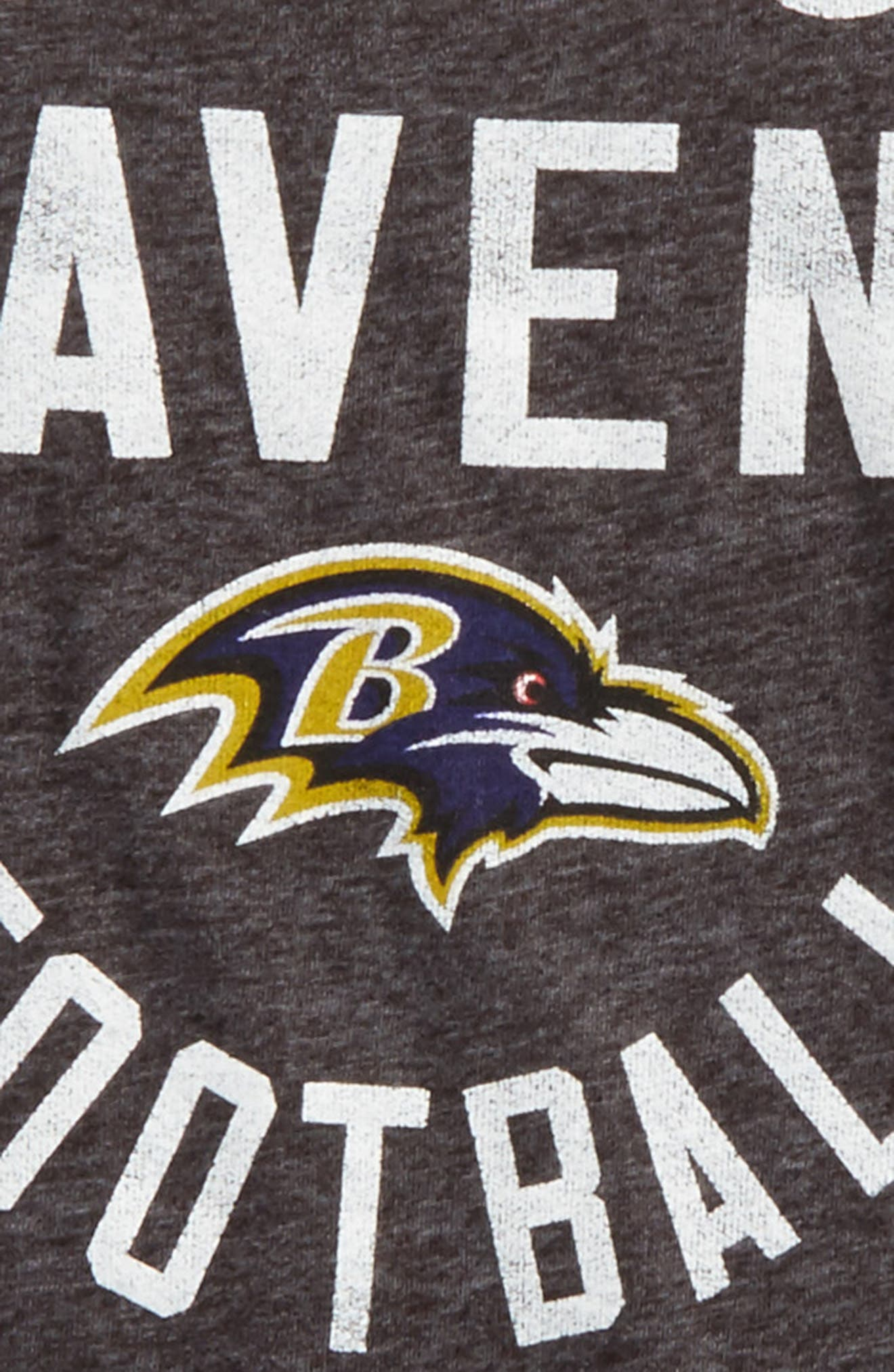NFL Baltimore Ravens Distressed Logo T-Shirt,                             Alternate thumbnail 2, color,                             500