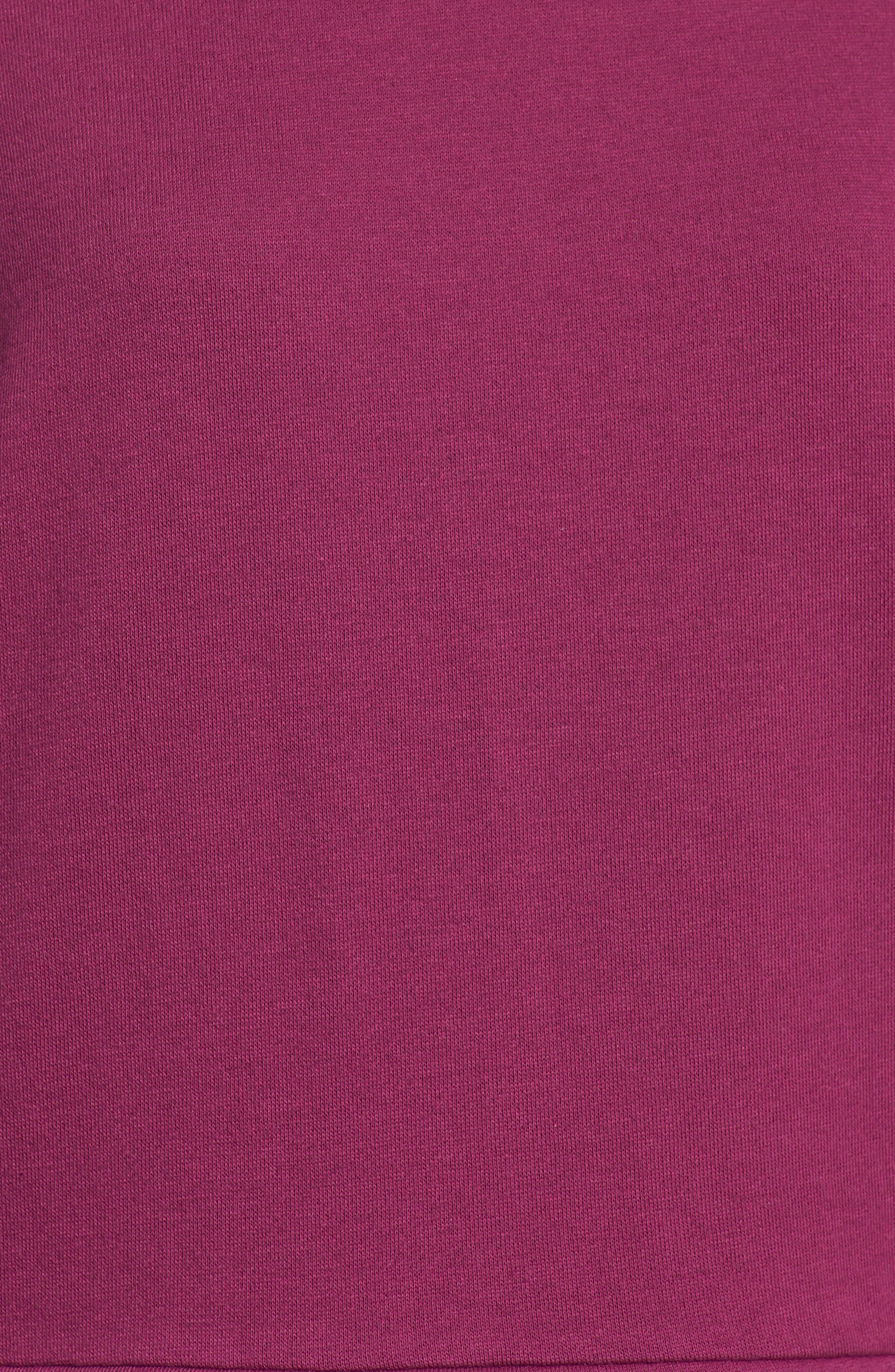 Eyelet Trim Sweatshirt,                             Alternate thumbnail 5, color,                             PURPLE FUCHSIA