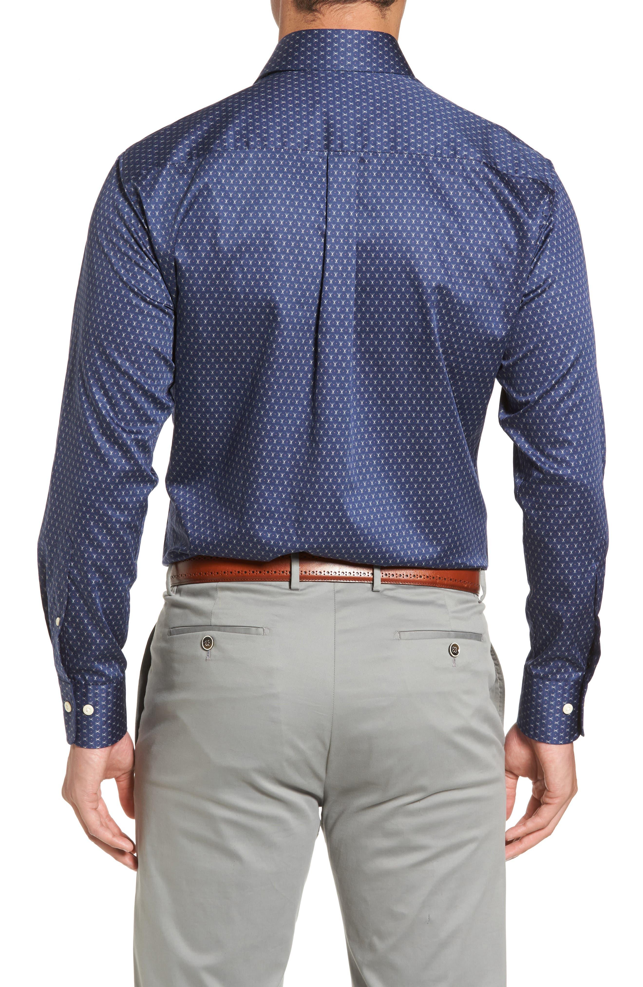 Cross Country Regular Fit Print Sport Shirt,                             Alternate thumbnail 2, color,                             424